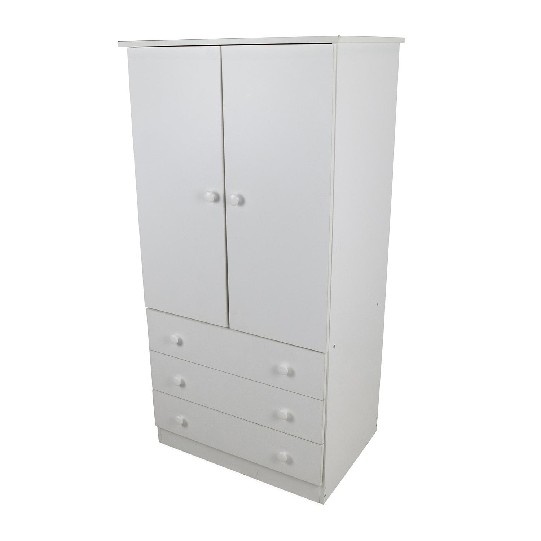 58 Off Prepac Prepac White Armoire Storage