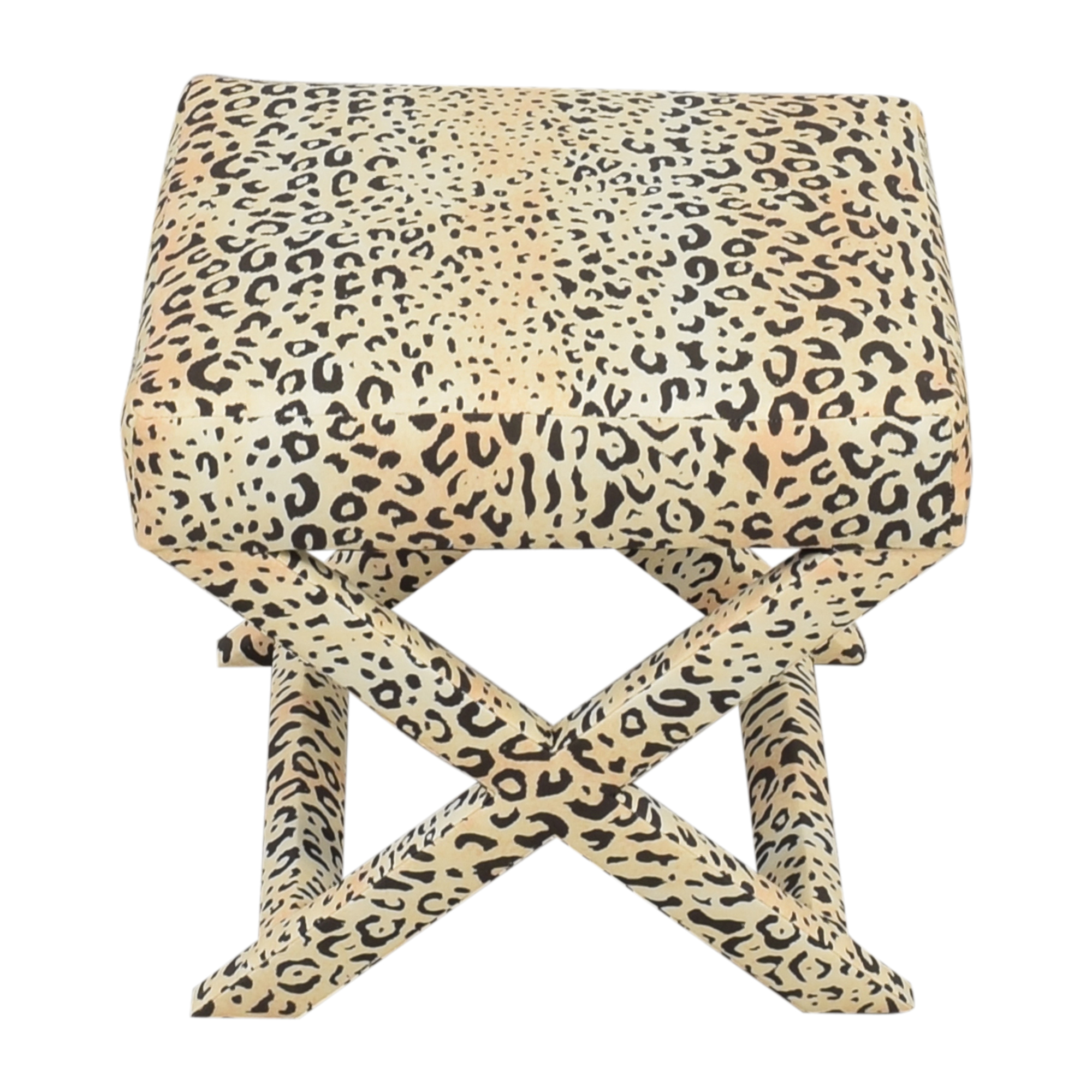shop The Inside X-Bench in Leopard The Inside Decor
