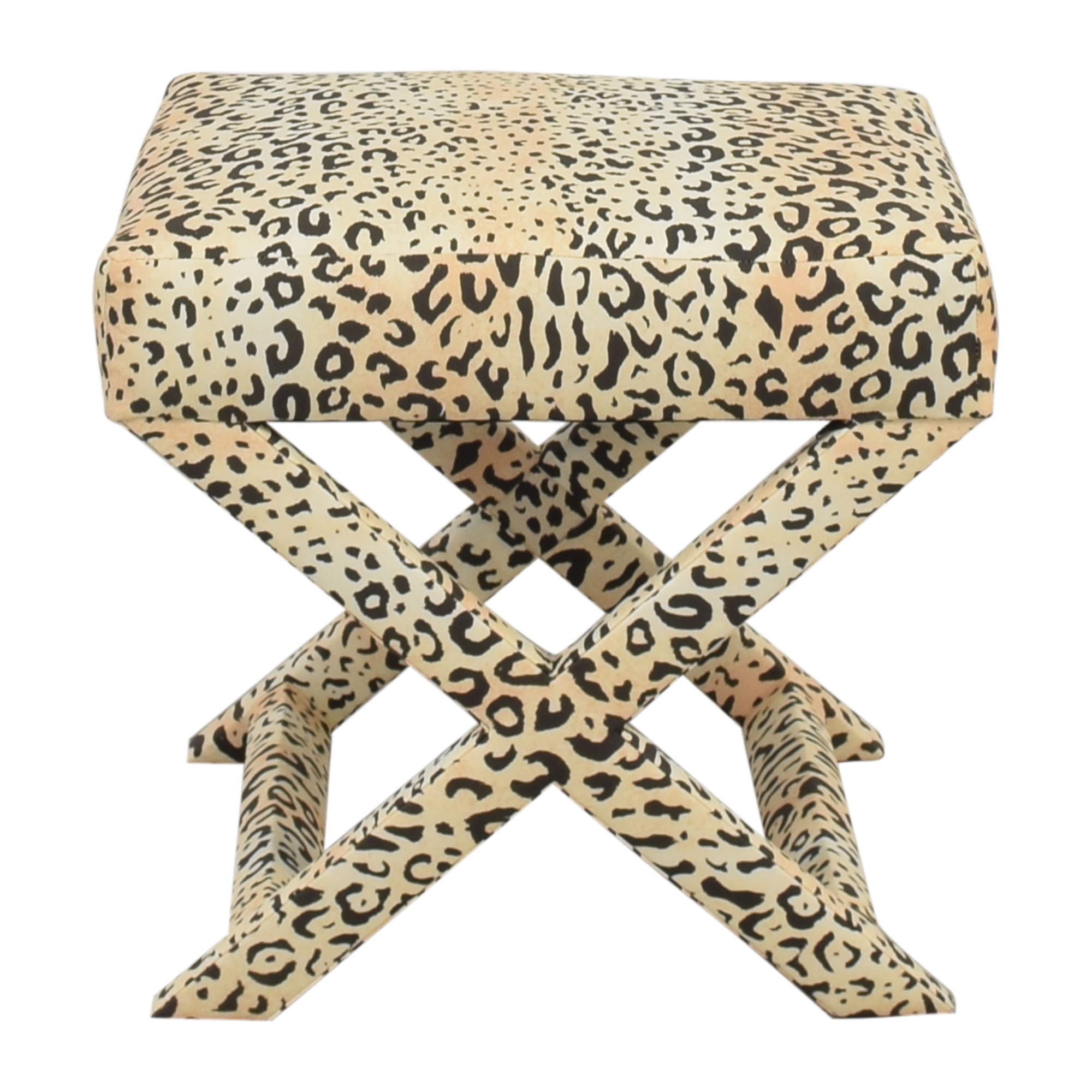 The Inside The Inside X-Bench in Leopard Ottomans