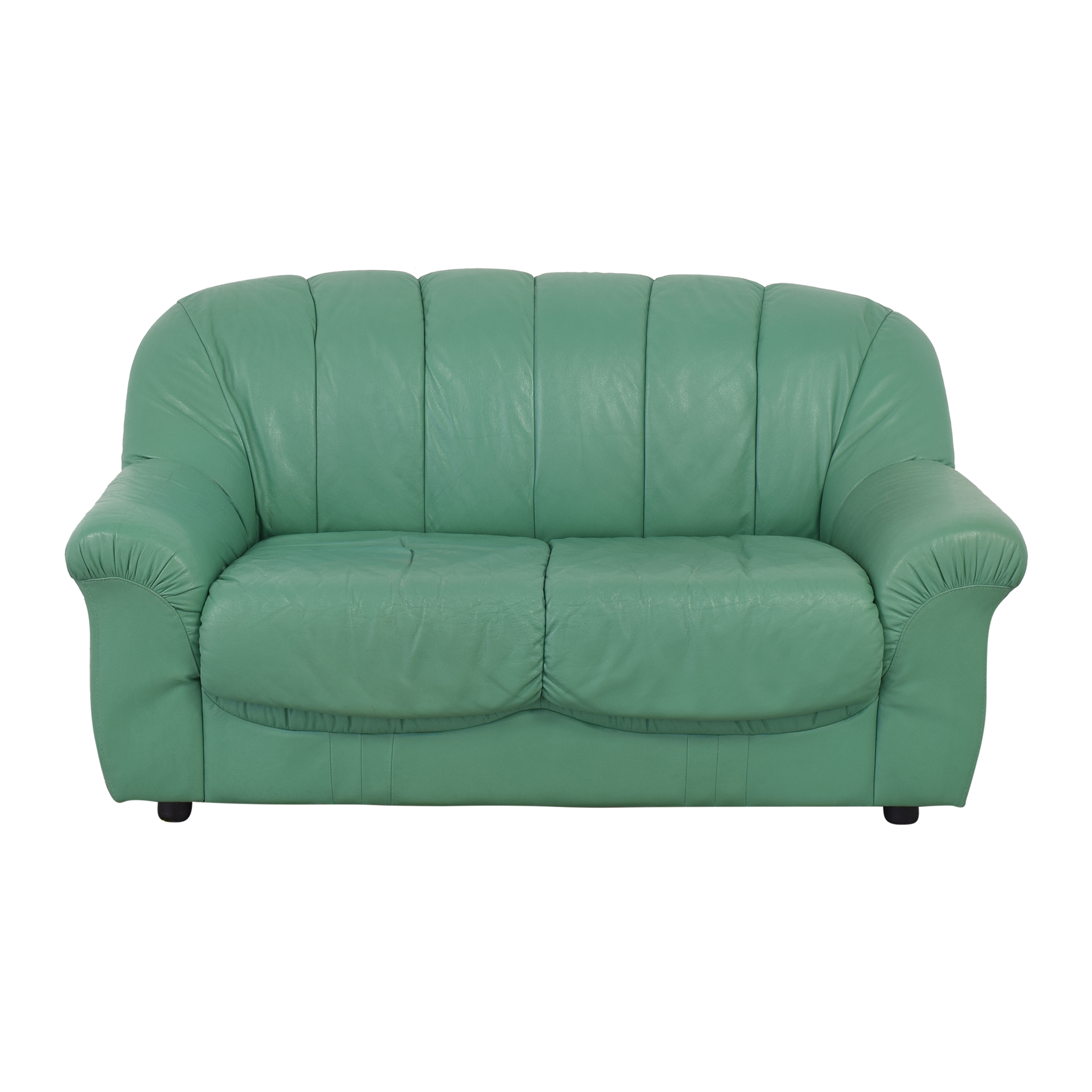 buy Roma Real Leather Green Couch Roma Furniture Sofas