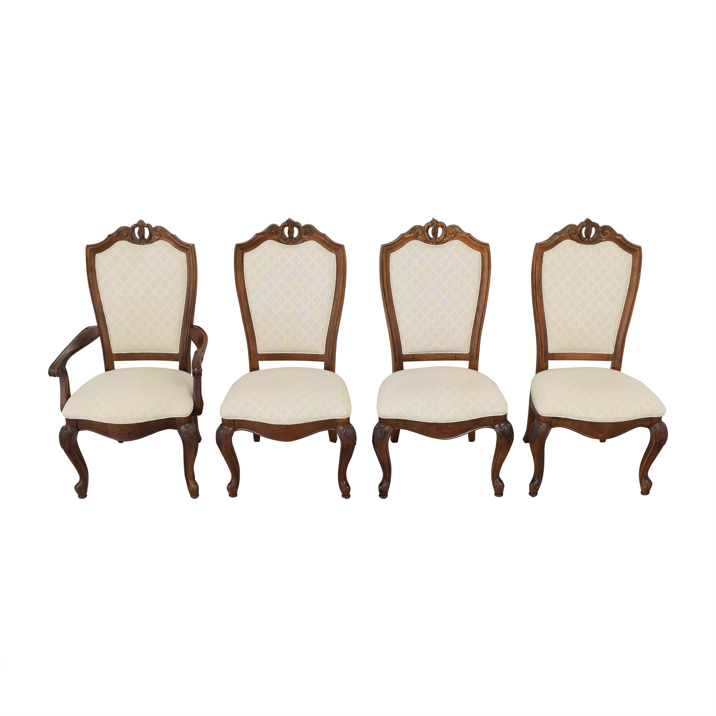 American Drew Bob Mackie for American Drew Dining Chairs brown & beige