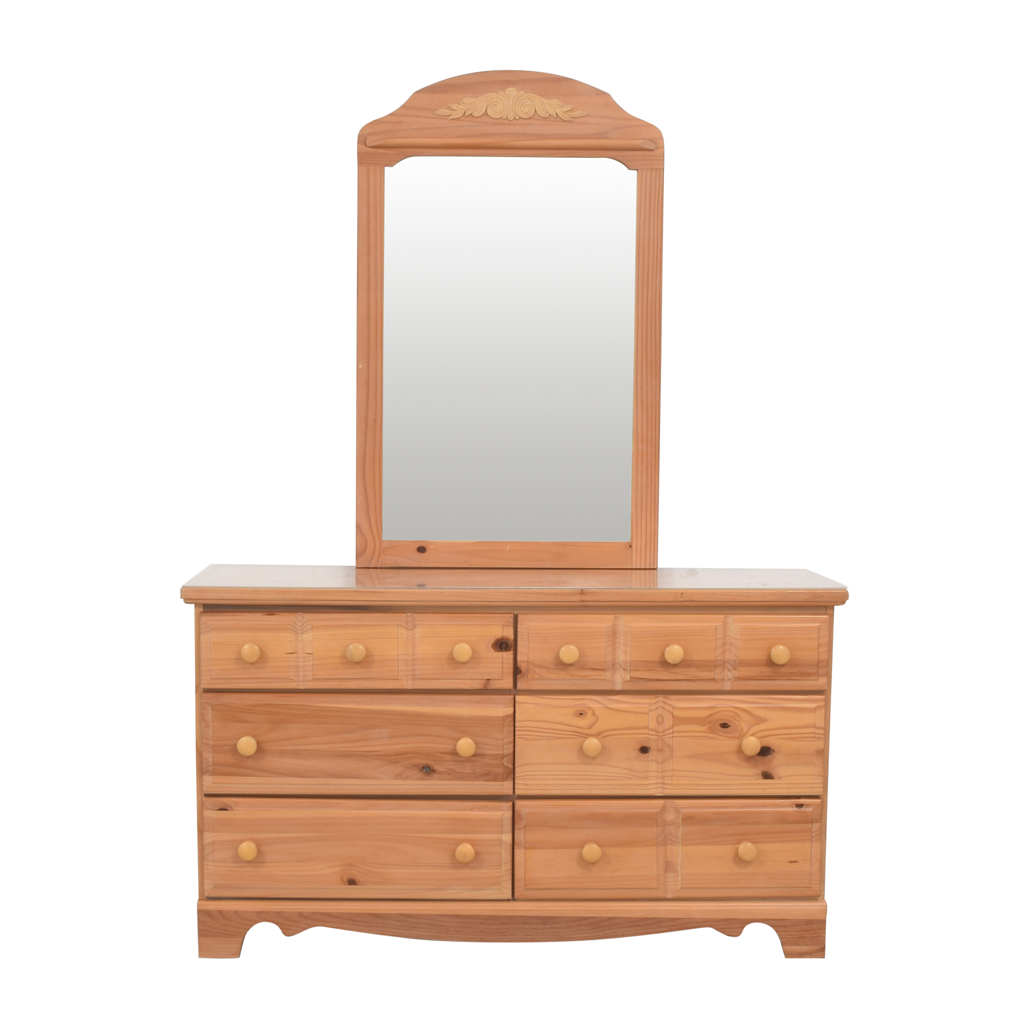 Vaughan-Bassett Vaughan-Bassett Six Drawer Dresser and Mirror price