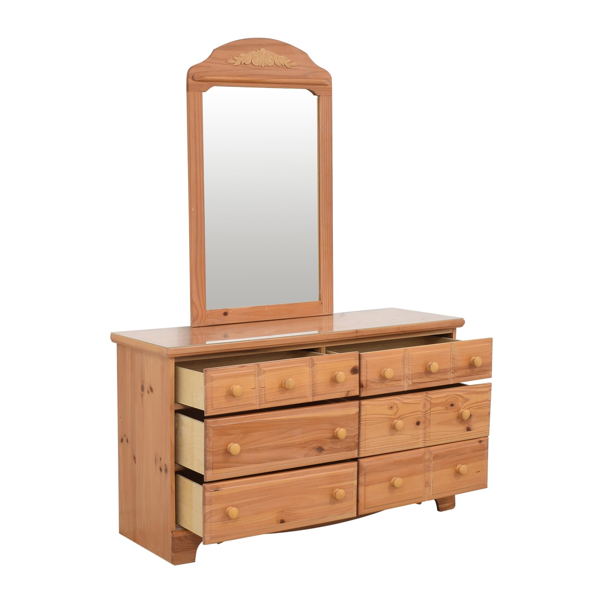 Vaughan-Bassett Vaughan-Bassett Six Drawer Dresser and Mirror nyc