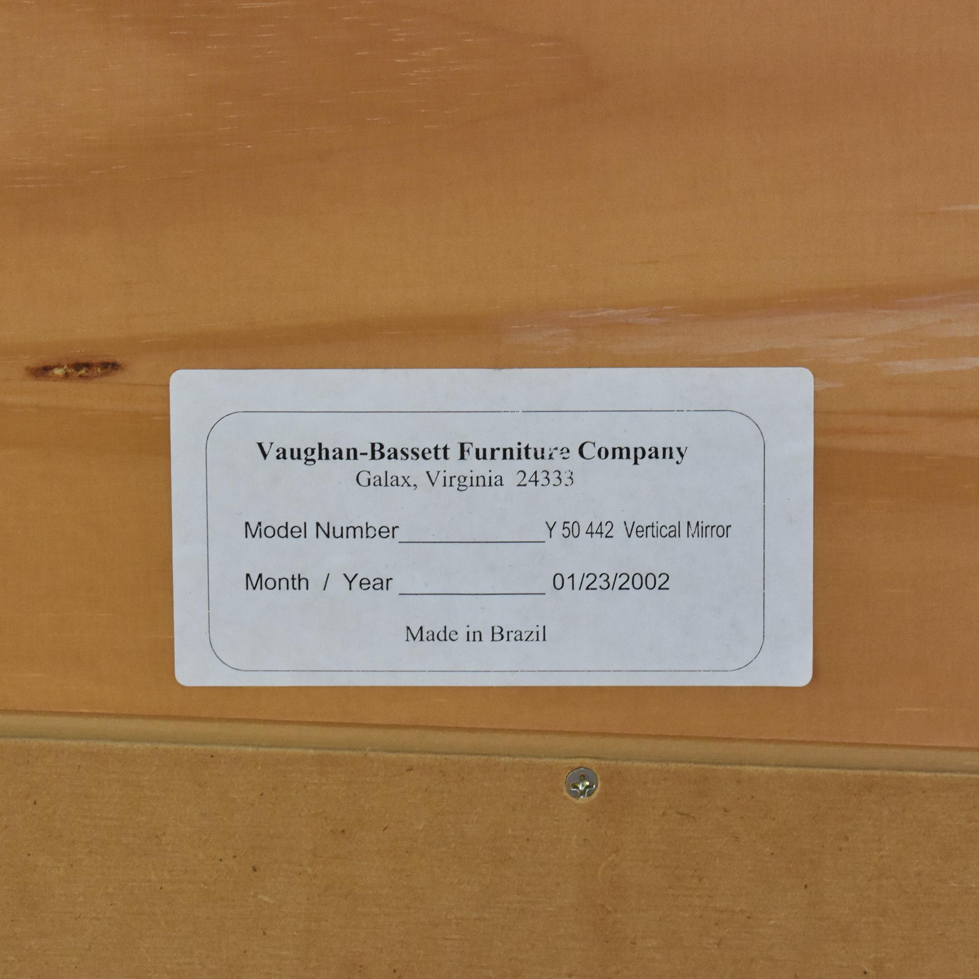 Vaughan-Bassett Vaughan-Bassett Six Drawer Dresser and Mirror discount