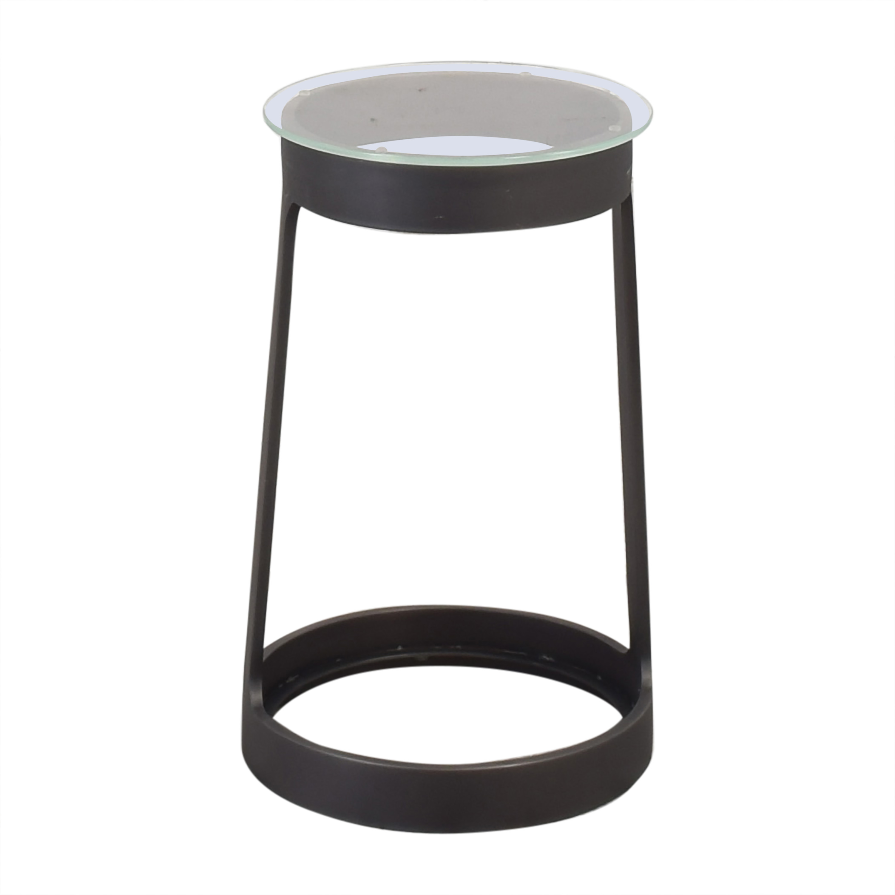 Restoration Hardware Round Cocktail Side Table discount