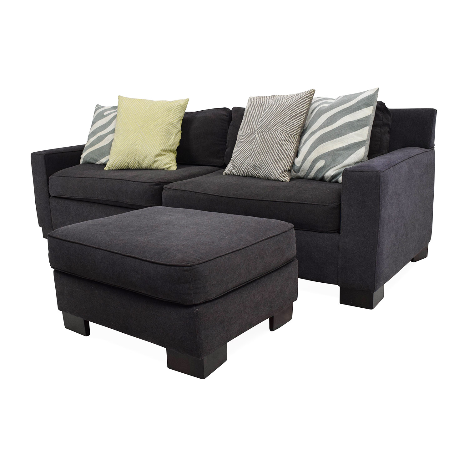 West Elm West Elm Sofa With Ottoman / Sofas