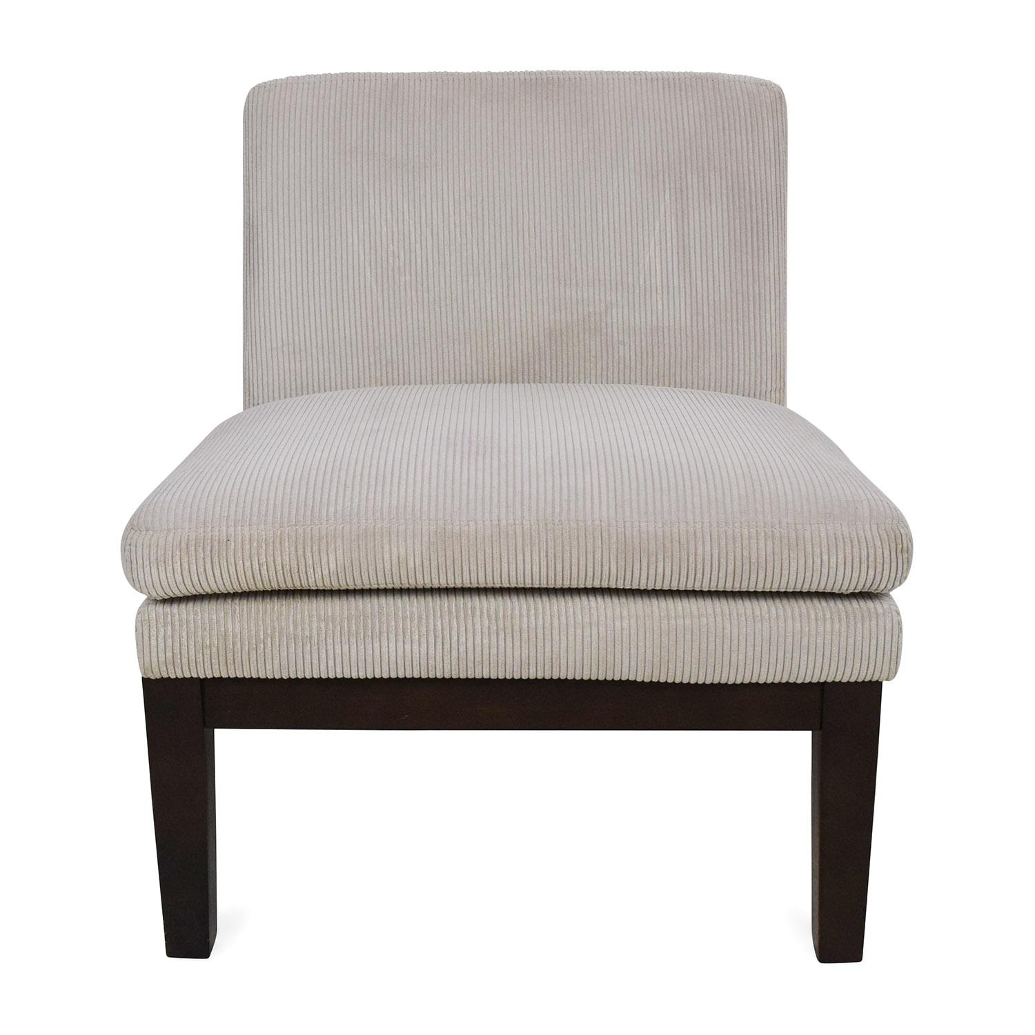 West Elm Corduroy Slipper Chair Sale