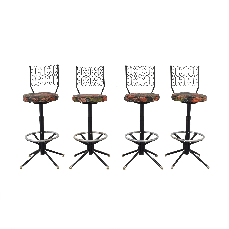 Wrought Iron Chair Corp Wrought Iron Chair Corp Vintage Bar Stools used