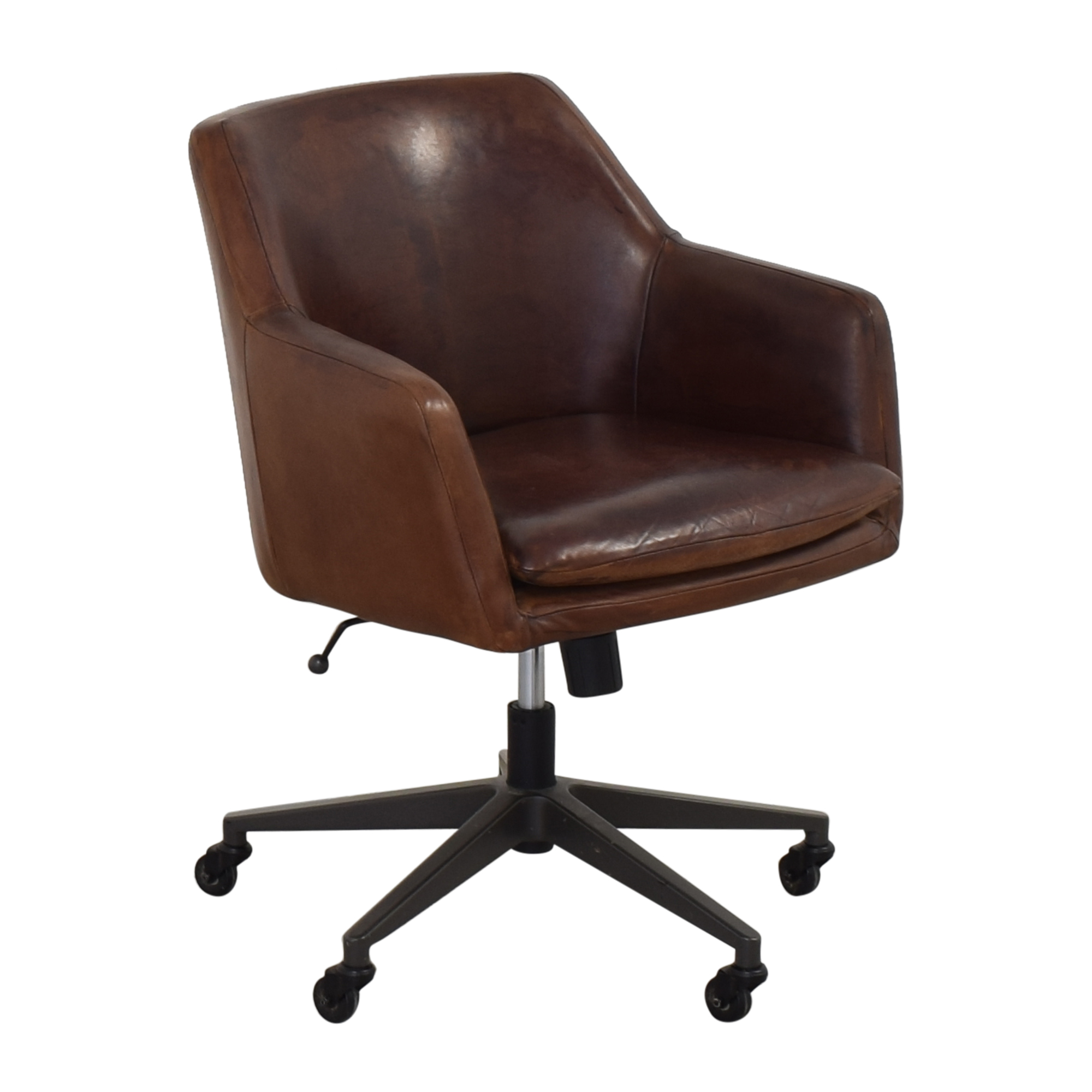 West Elm Helvatica Leather Office Chair / Home Office Chairs