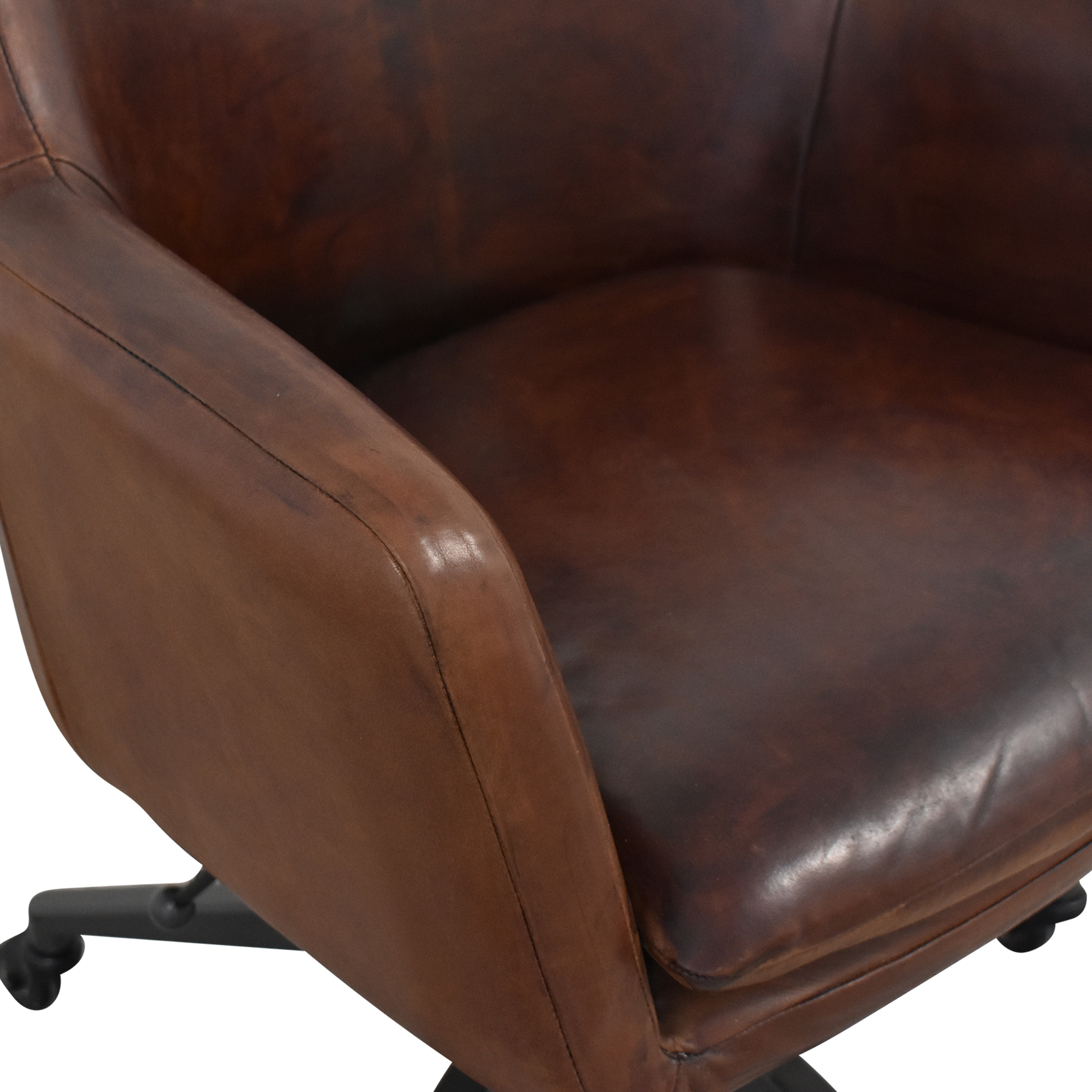West Elm West Elm Helvatica Leather Office Chair second hand