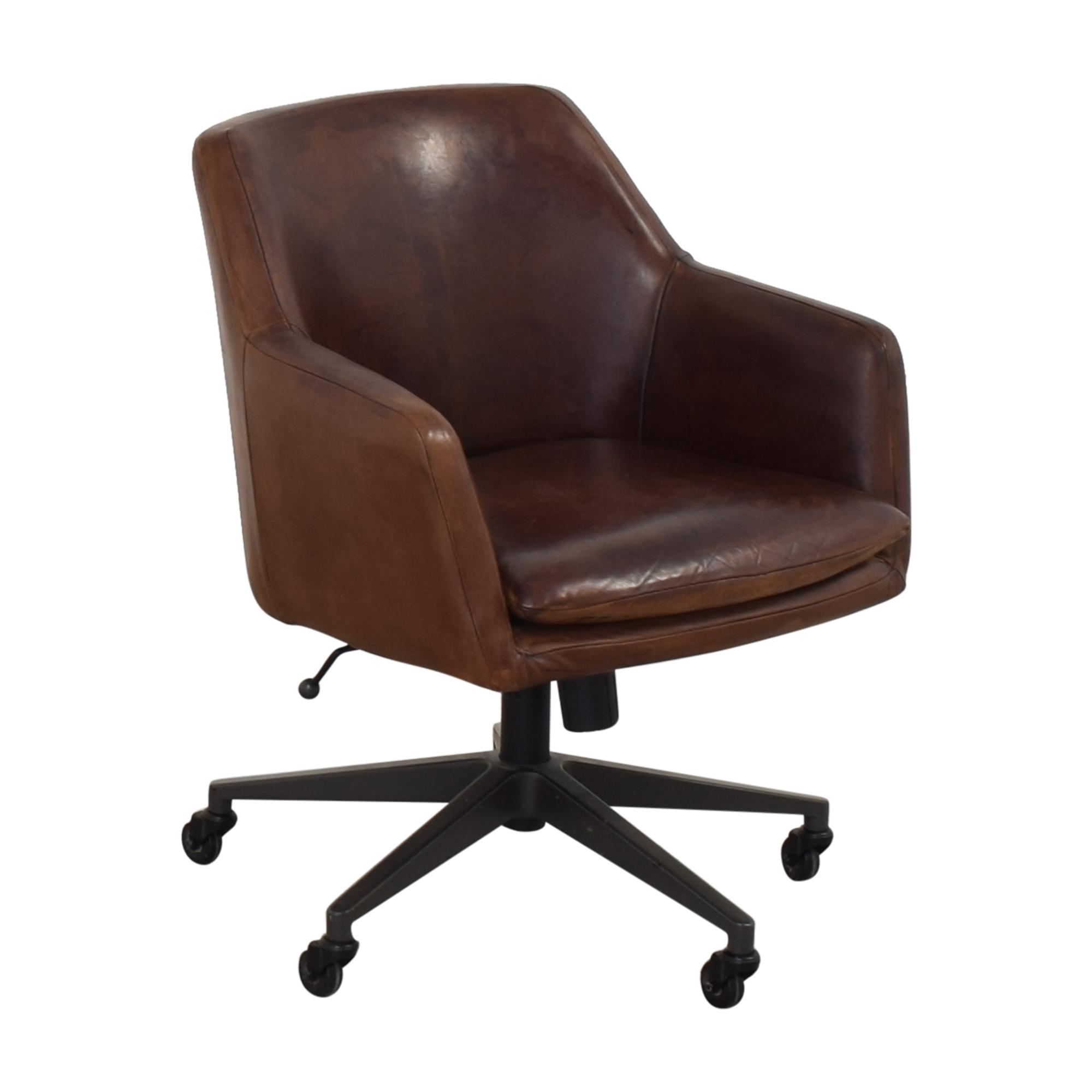 shop West Elm West Elm Helvatica Leather Office Chair online