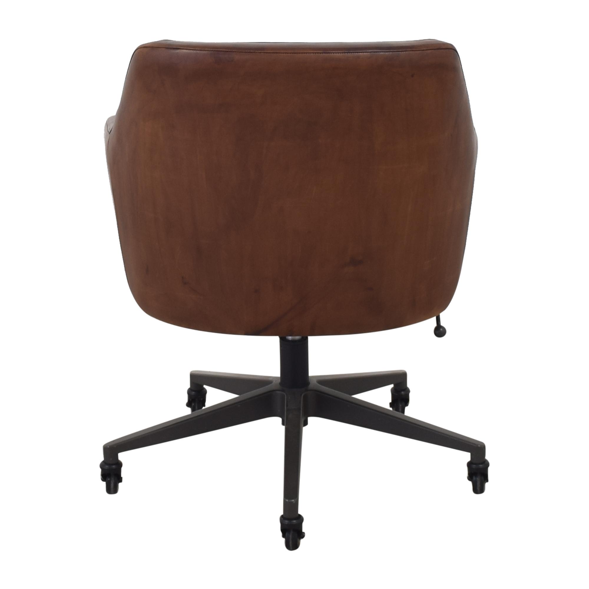 shop West Elm Helvatica Leather Office Chair West Elm