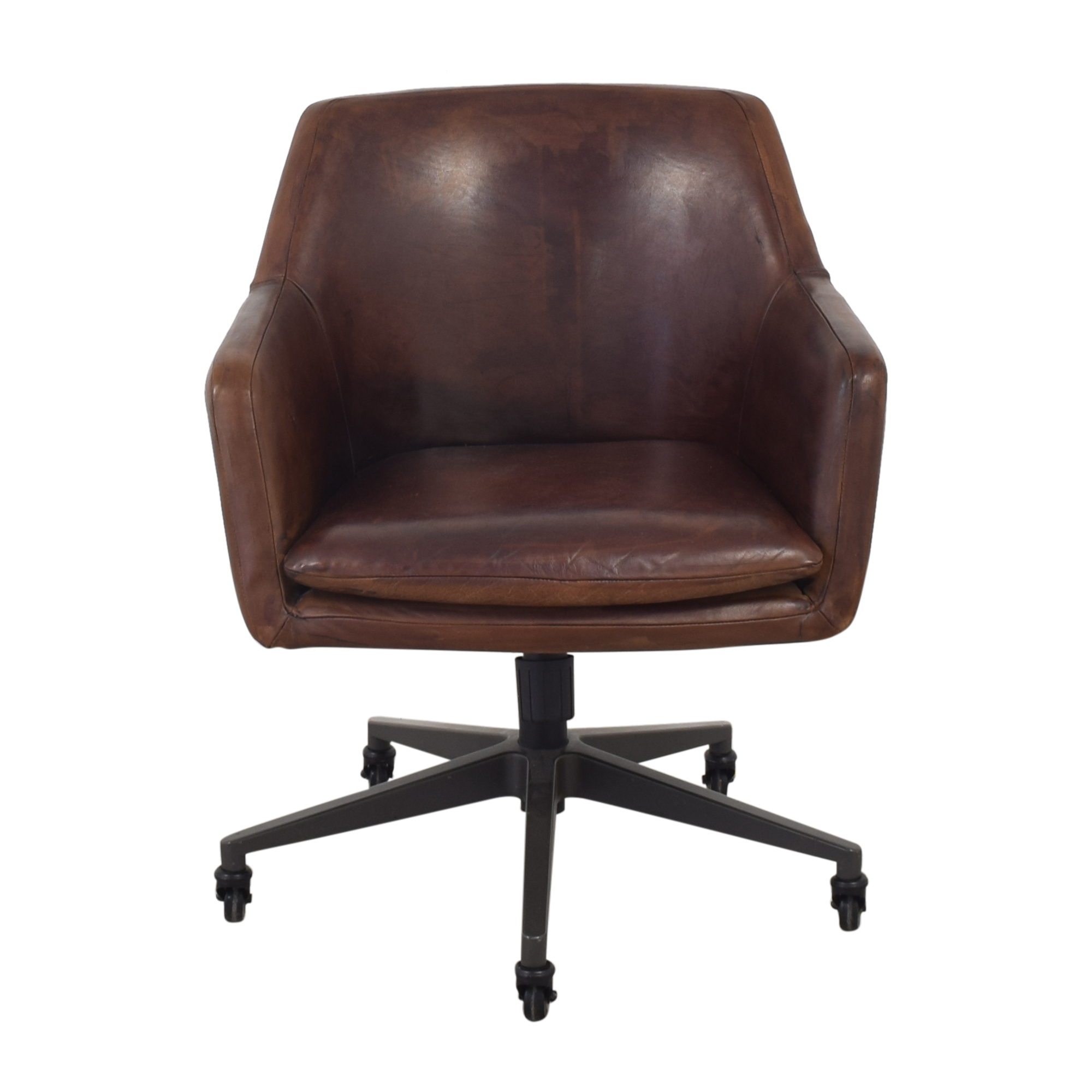 West Elm West Elm Helvatica Leather Office Chair discount