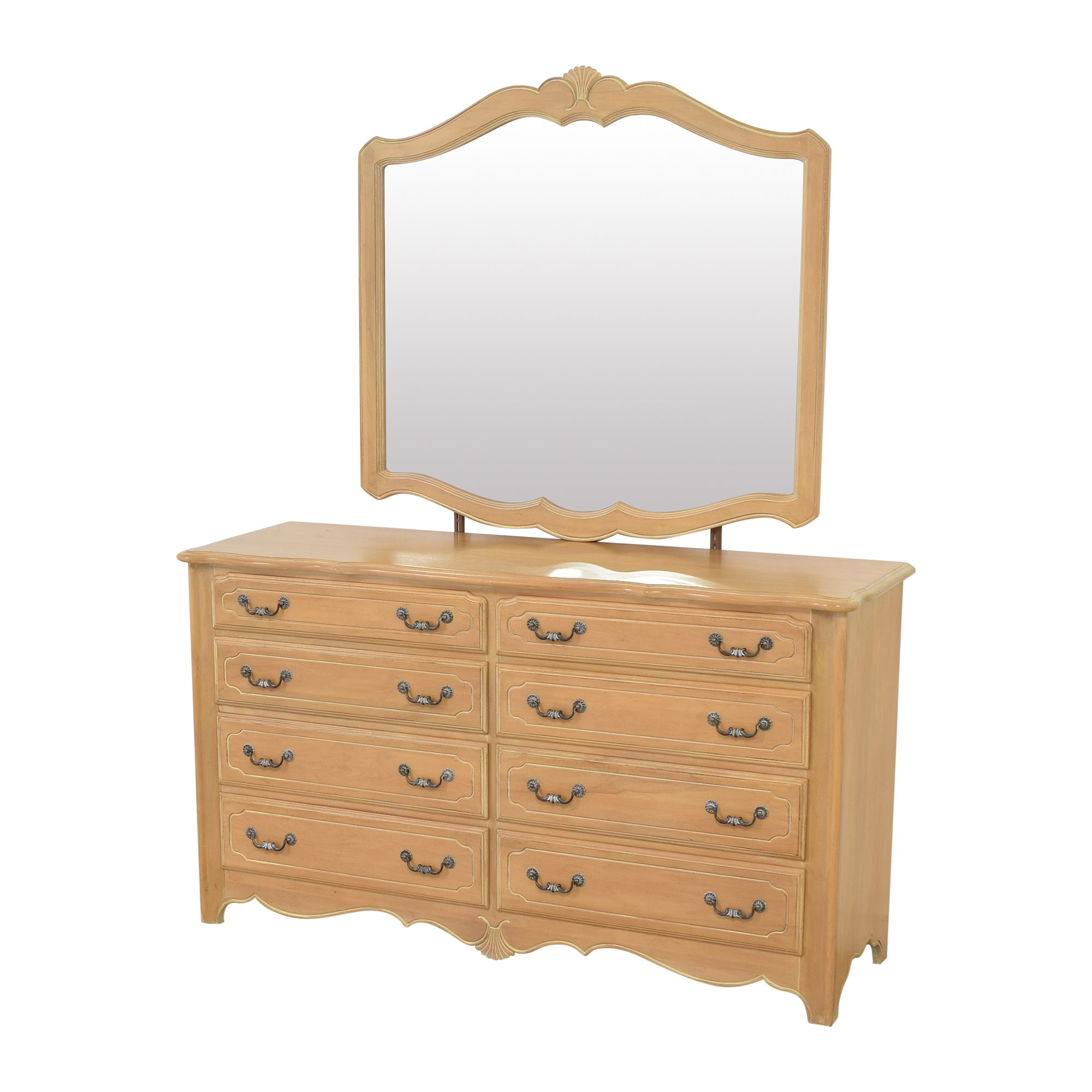 buy Ethan Allen Country French Dresser with Mirror Ethan Allen Storage