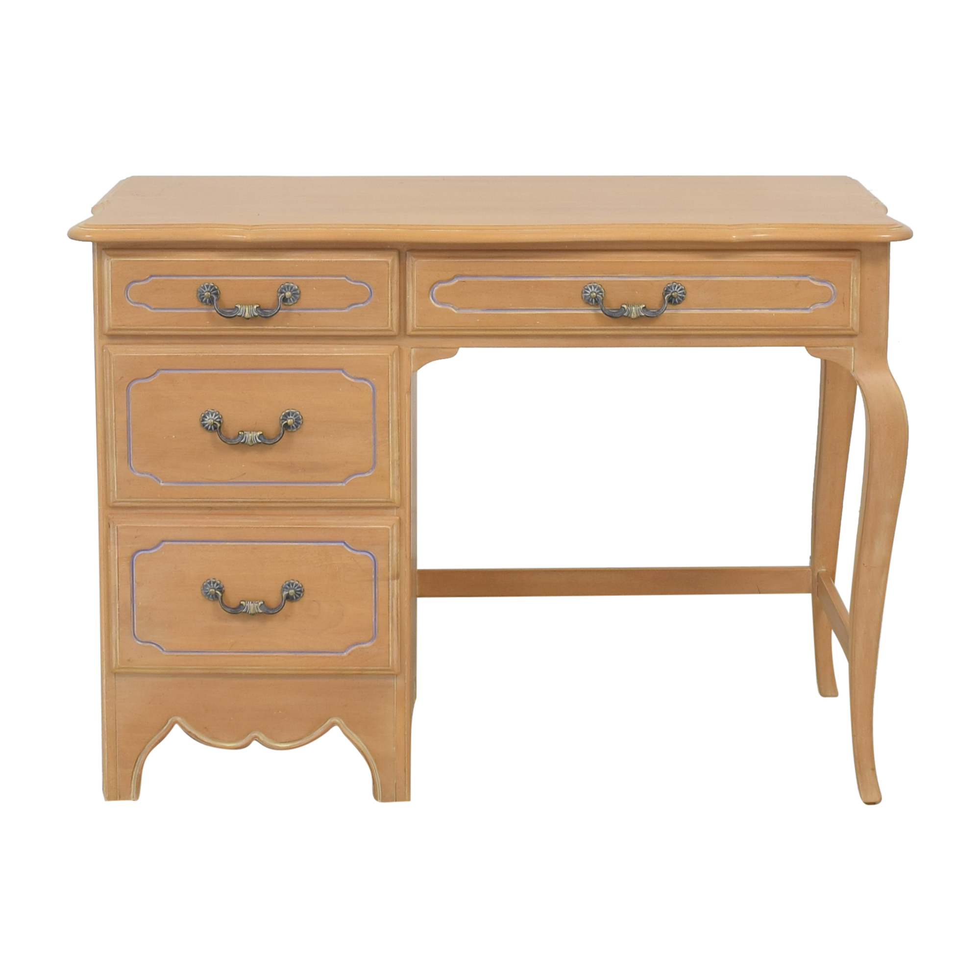 Ethan Allen Traditional Desk with Drawers sale