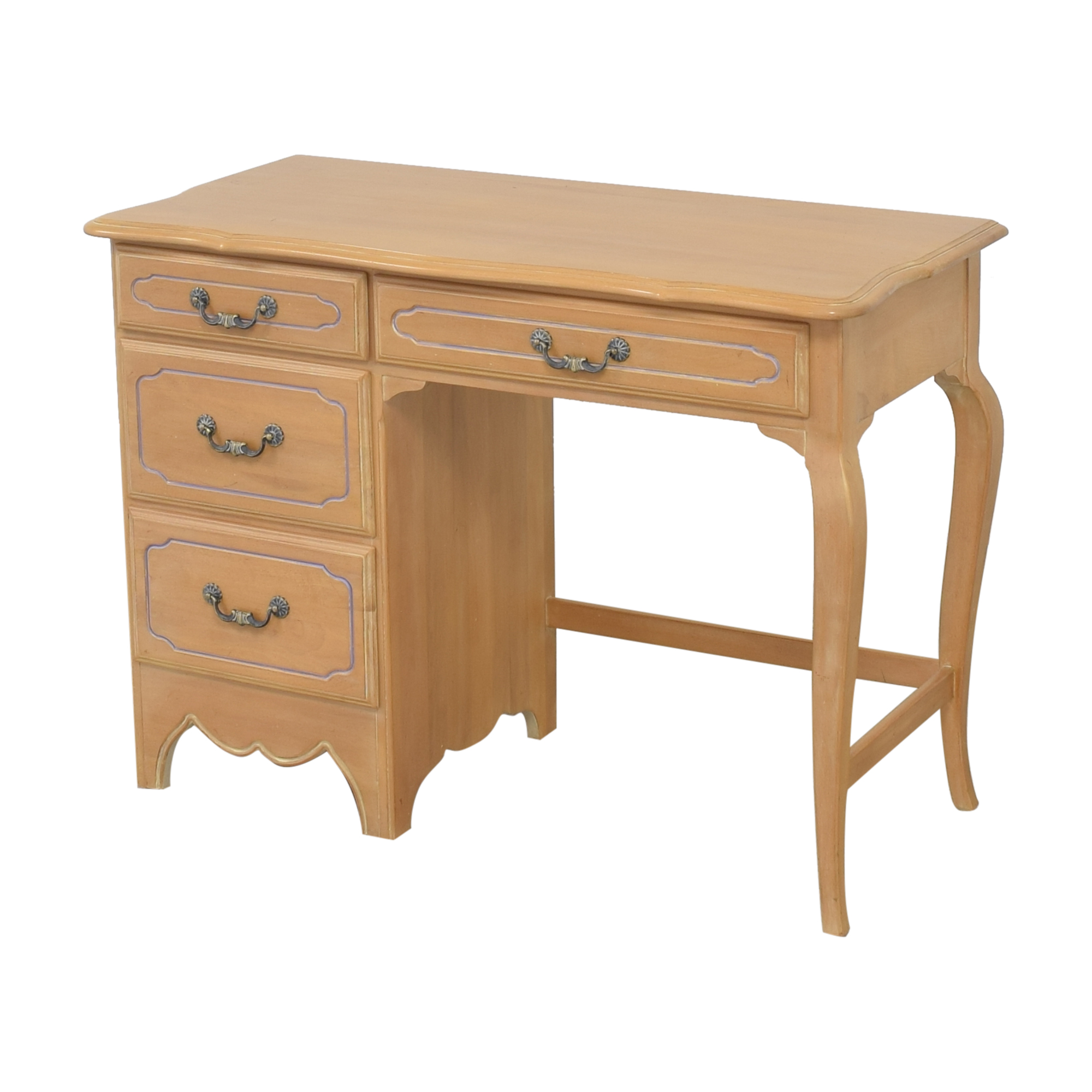 buy Ethan Allen Traditional Desk with Drawers Ethan Allen Home Office Desks
