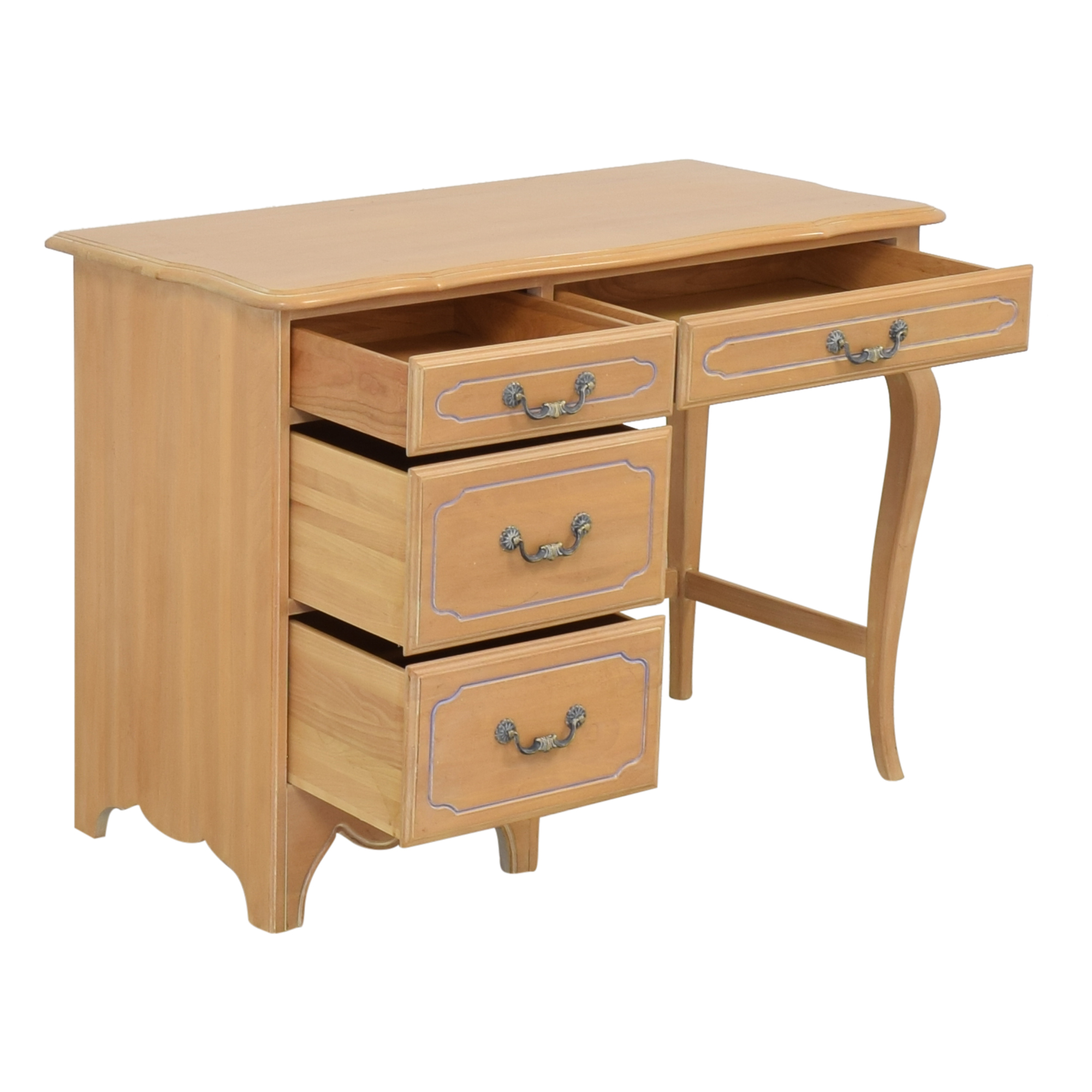 Ethan Allen Ethan Allen Traditional Desk with Drawers second hand