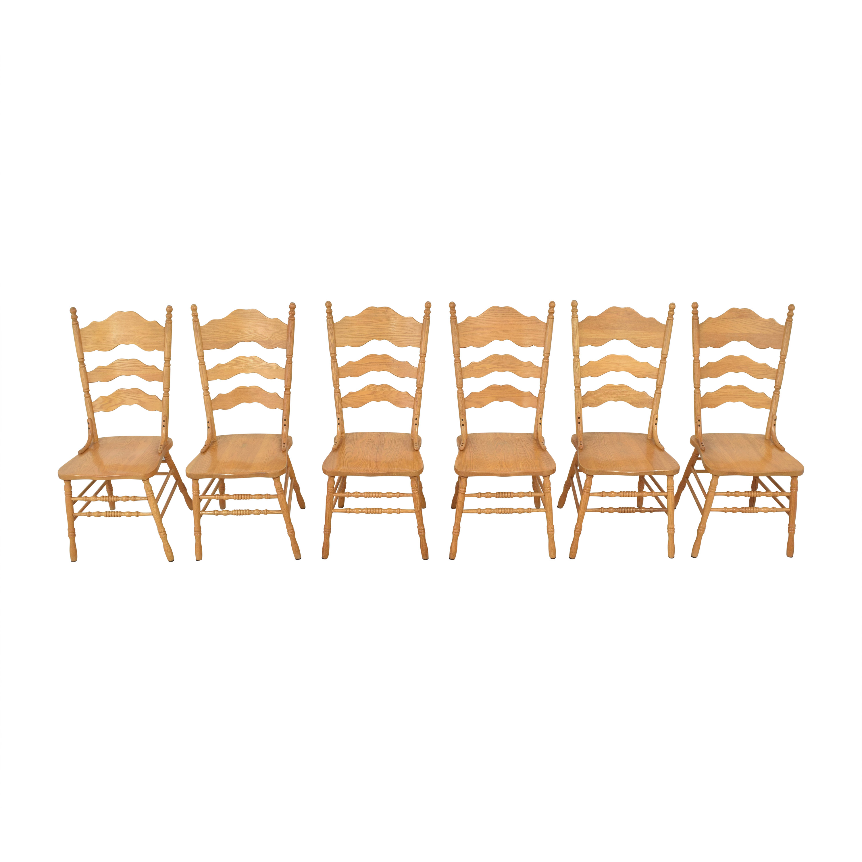 Shin-Lee Shin-Lee Ladder Back Dining Chairs nj