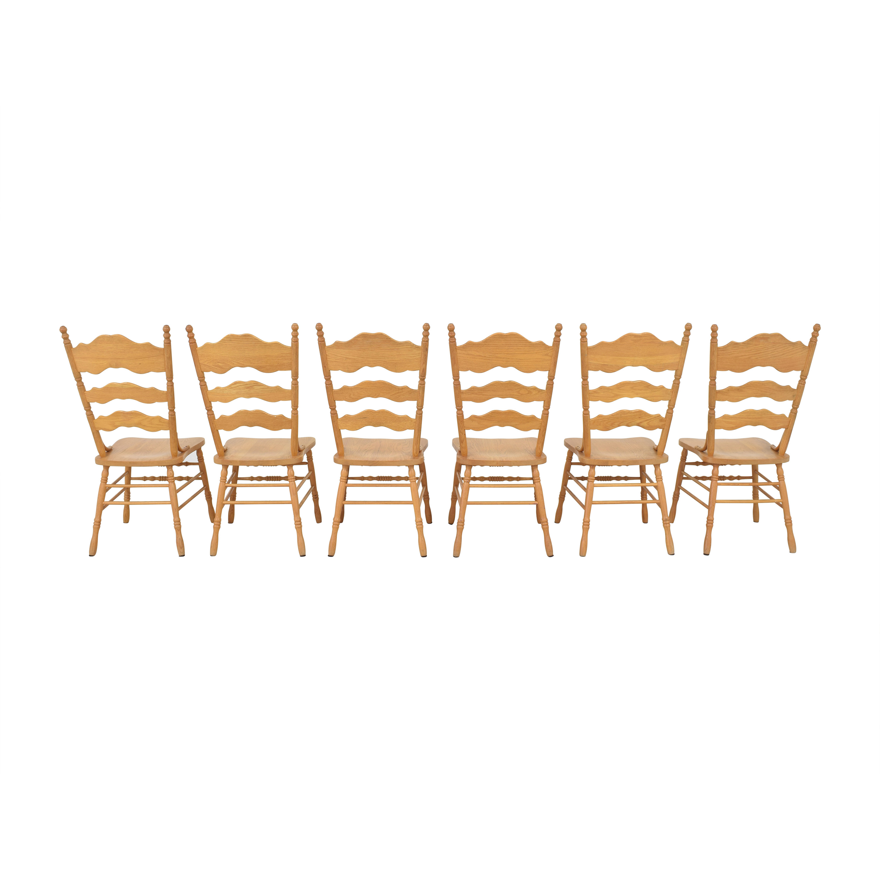 Shin-Lee Shin-Lee Ladder Back Dining Chairs discount