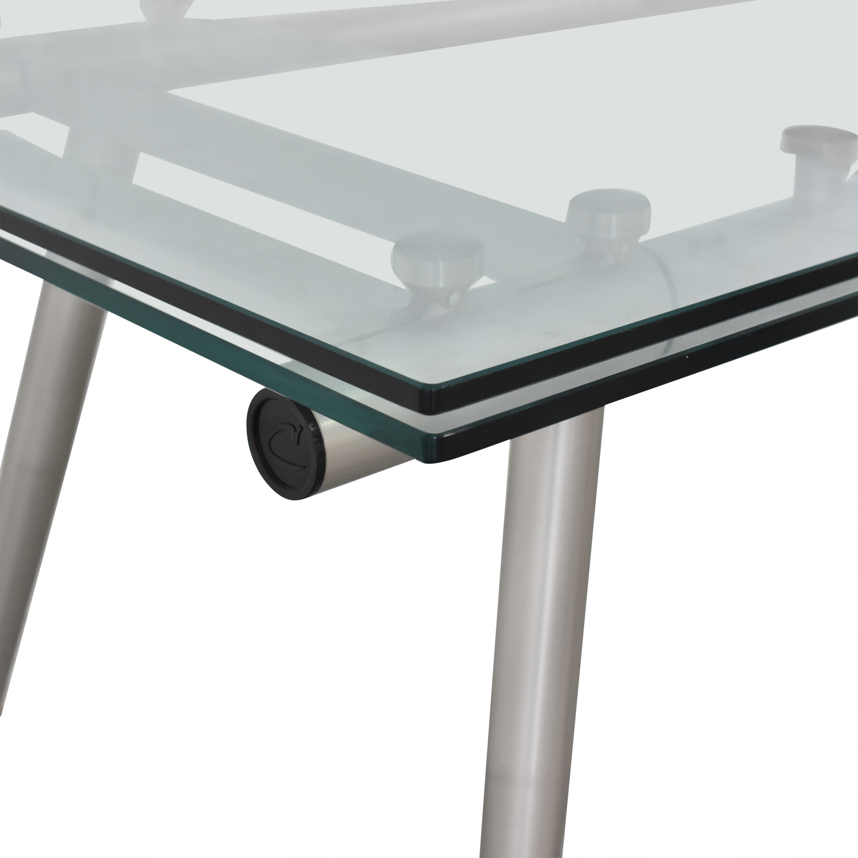 shop Calligaris Modern Glass Extendable Dining Table Calligaris Dinner Tables