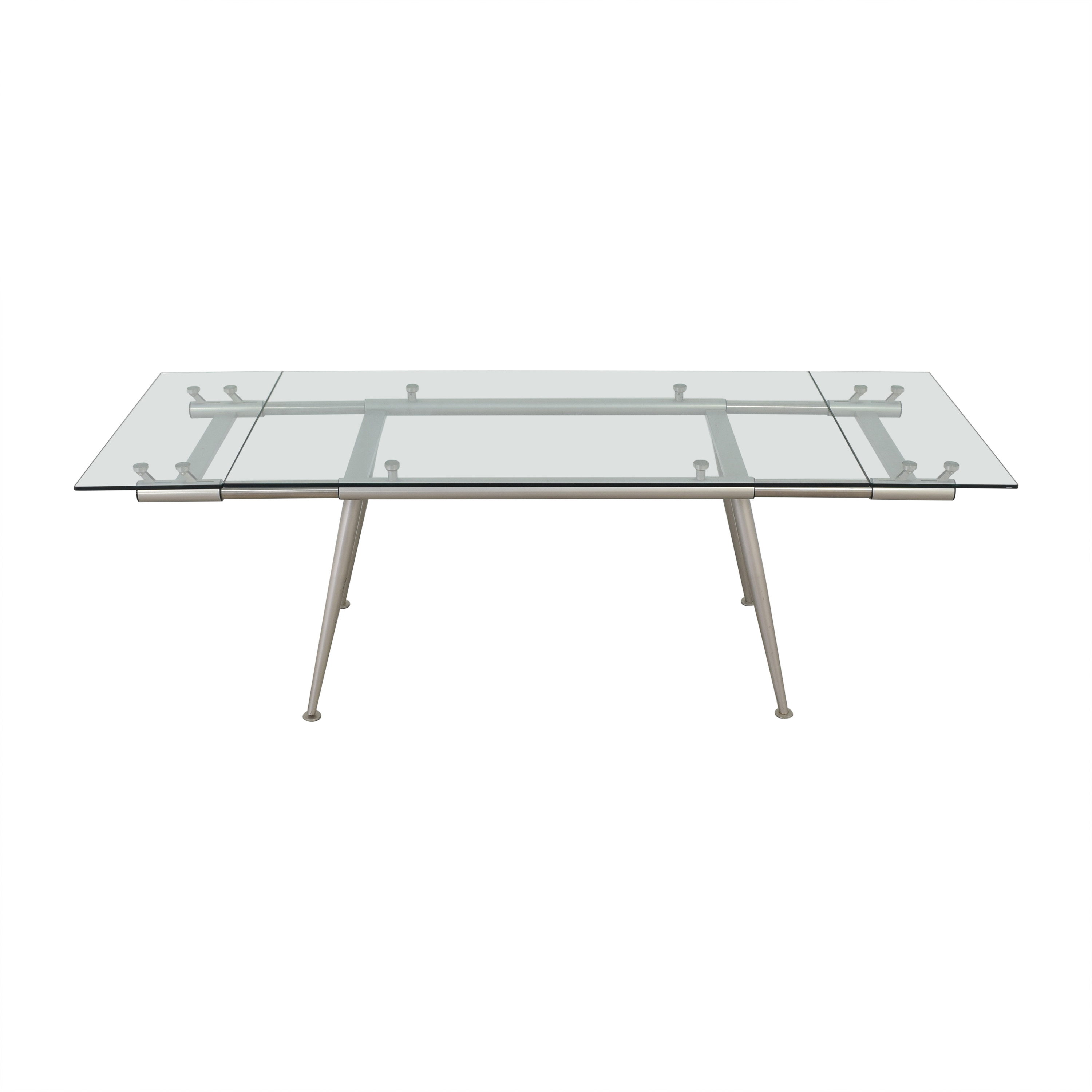 buy Calligaris Modern Glass Extendable Dining Table Calligaris Dinner Tables