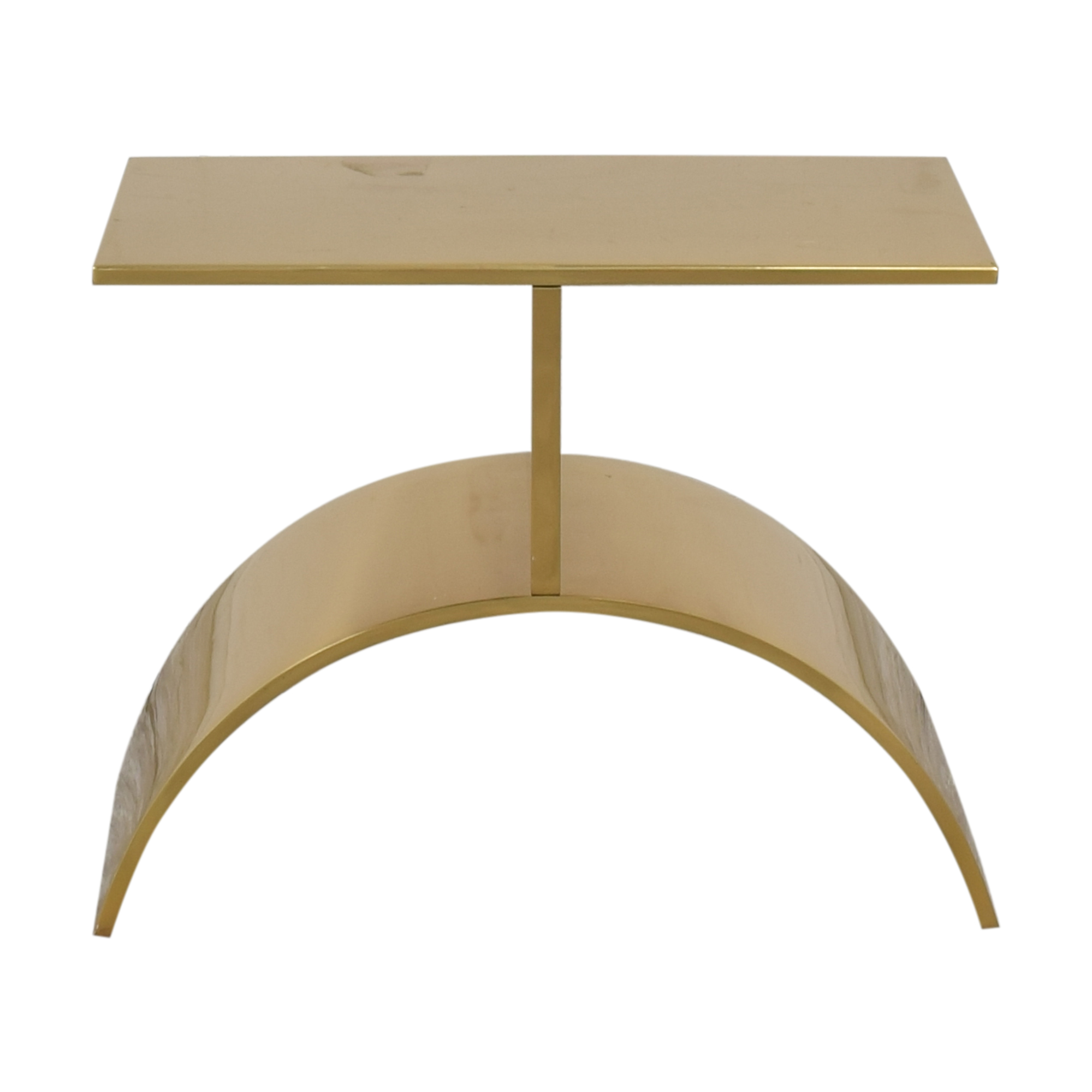 CB2 Curve Gold Side Table CB2
