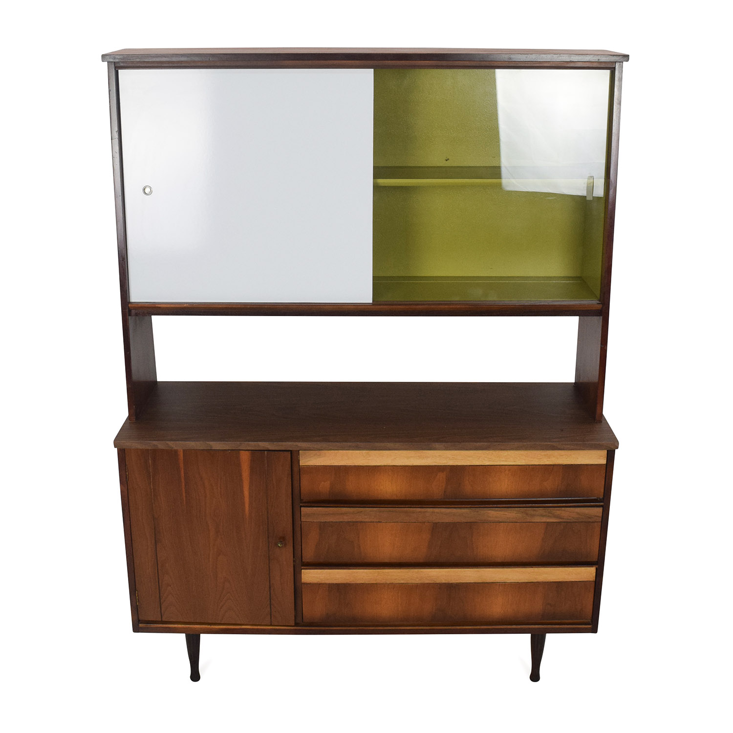 shop Vintage Mid Century Sideboard Credenza Cabinet Unknown Brand Cabinets & Sideboards
