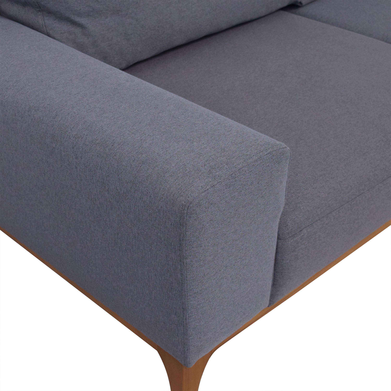 buy Mid Century Style Two Cushion Sofa