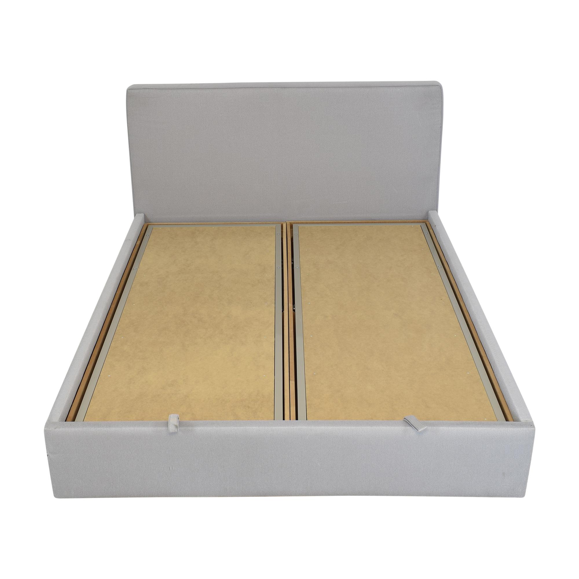 buy Upholstered Storage Queen Bed  Beds
