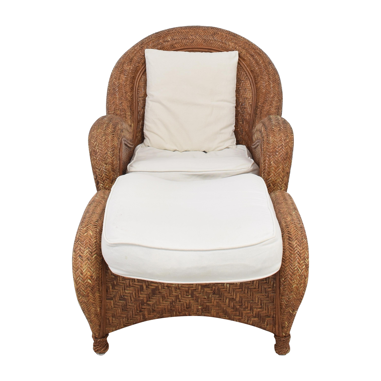 buy Pottery Barn Malabar Chair with Ottoman Pottery Barn