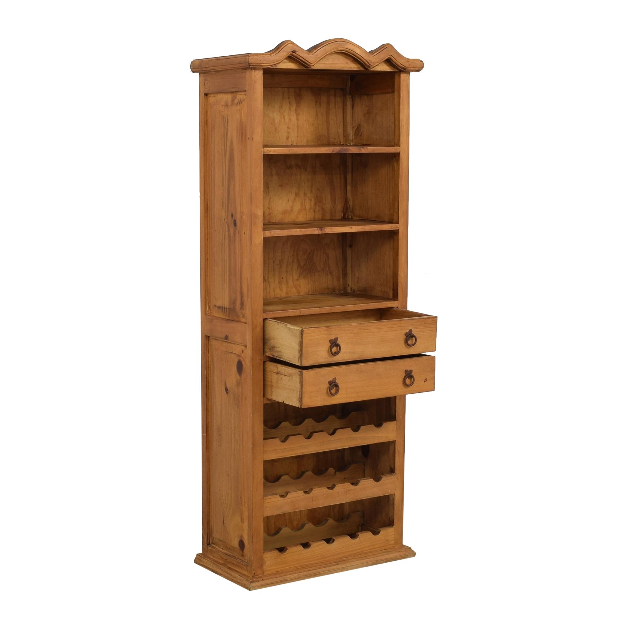 shop El Dorado Furniture Tall Bar Cabinet El Dorado Furniture Bookcases & Shelving