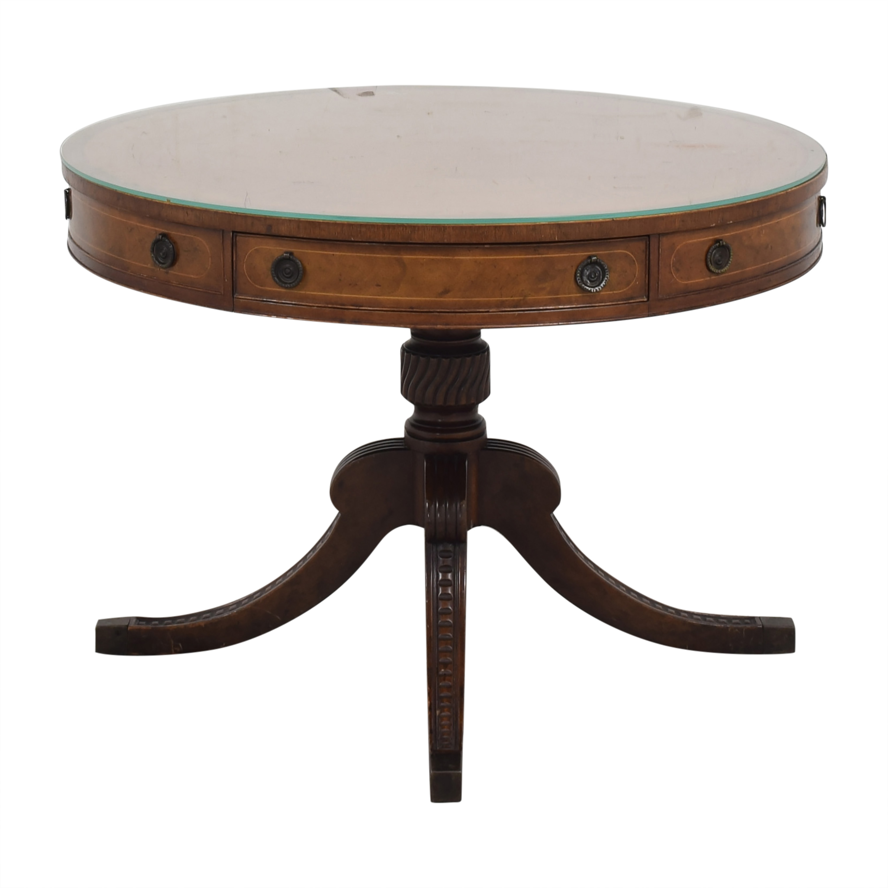 Round Regency Style Drum Table / Tables