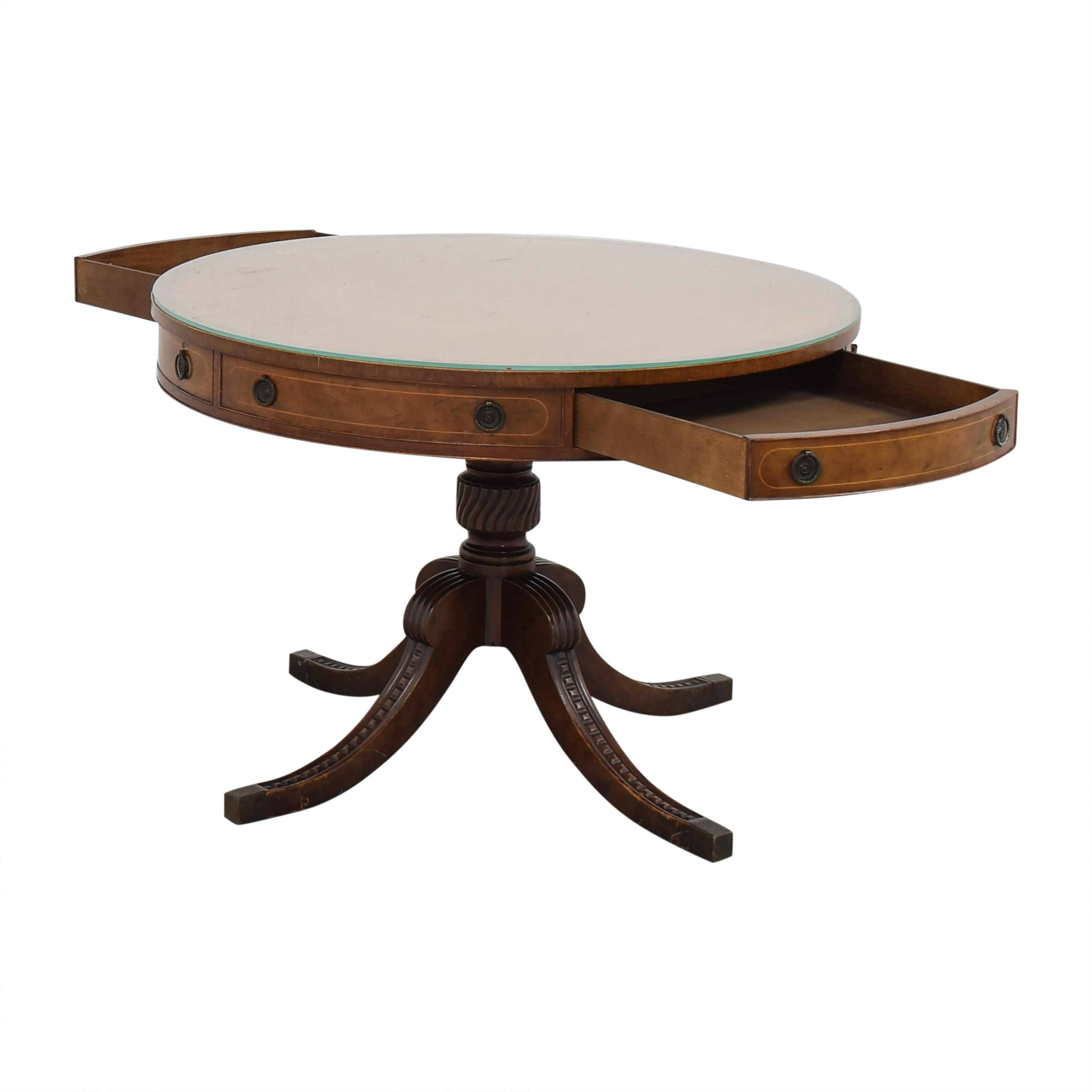 Round Regency Style Drum Table pa
