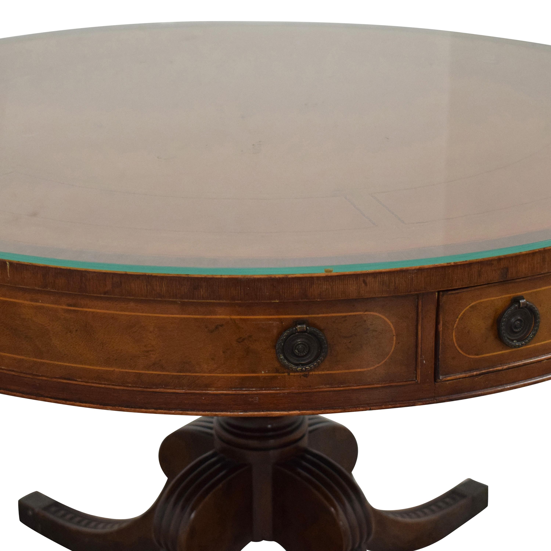 Round Regency Style Drum Table used