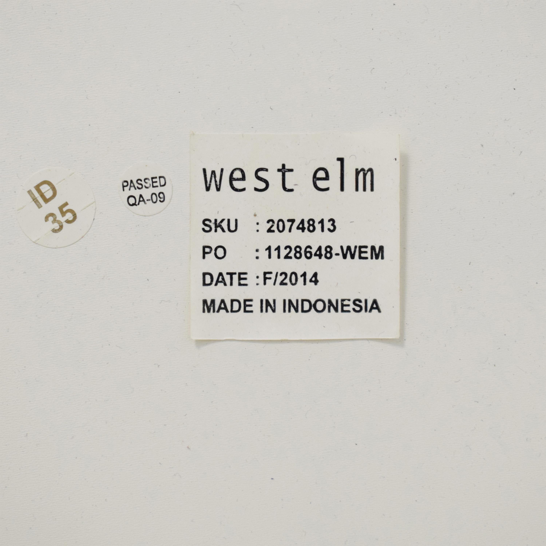 West Elm Wood Tiled Vanity / Accent Tables