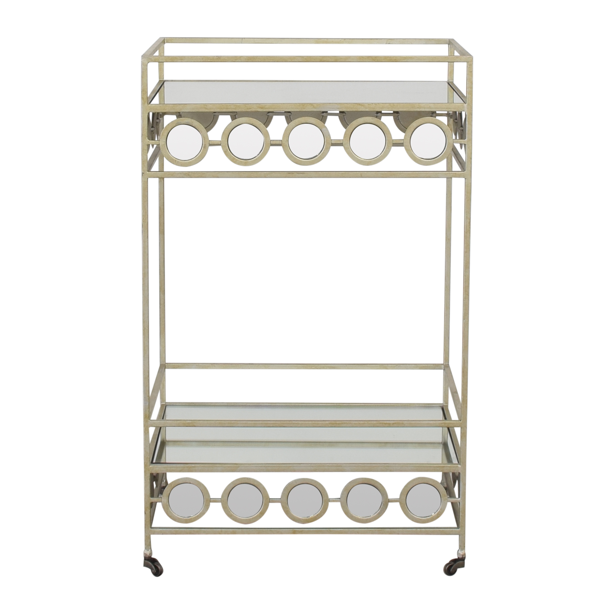 Pier 1 Pier 1 Della Mirrored Bar Cart Tables