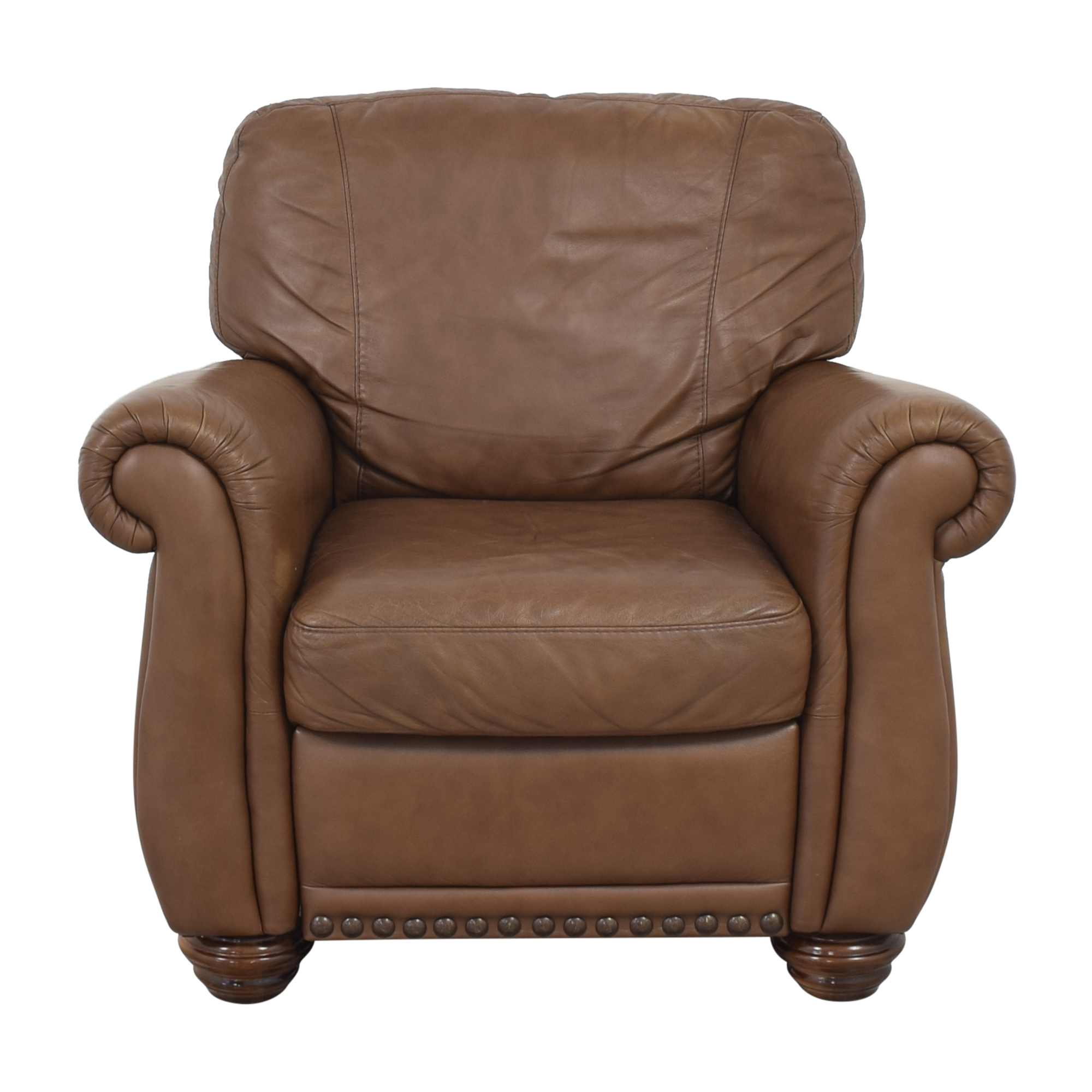 Raymour & Flanigan Raymour & Flanigan Natuzzi Elba Recliner brown