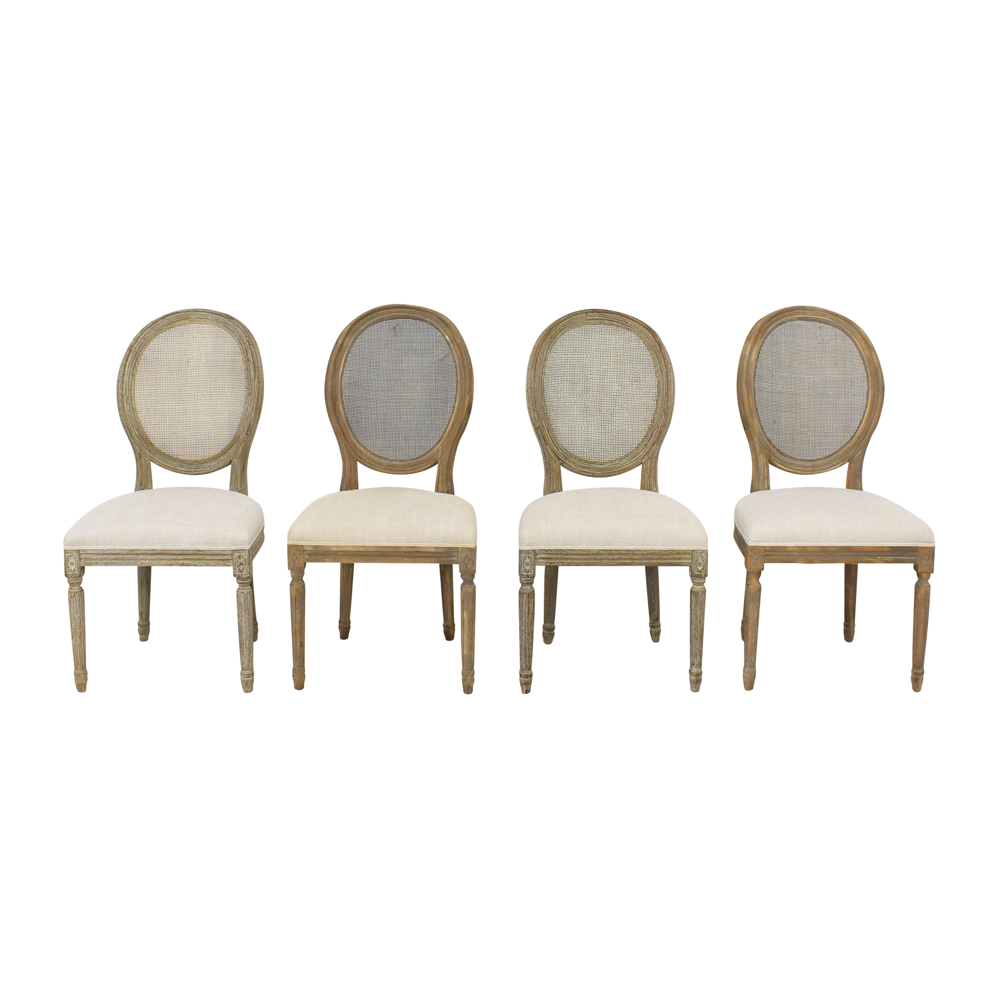 Restoration Hardware Vintage French Round Side Chairs / Chairs