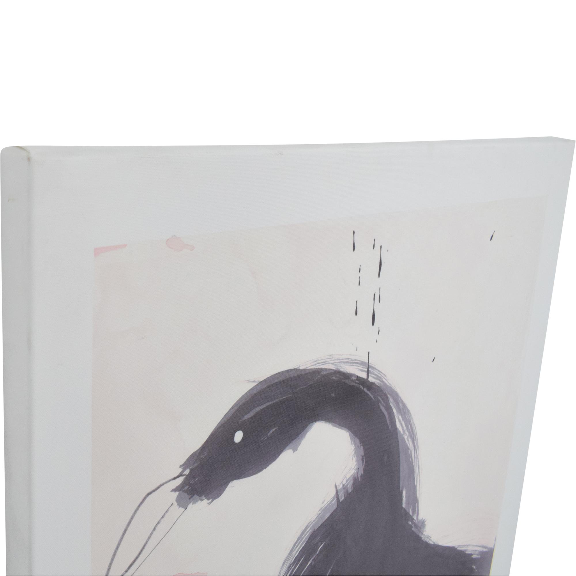 CB2 CB2 Black Swan by Selene Perez Print black & white