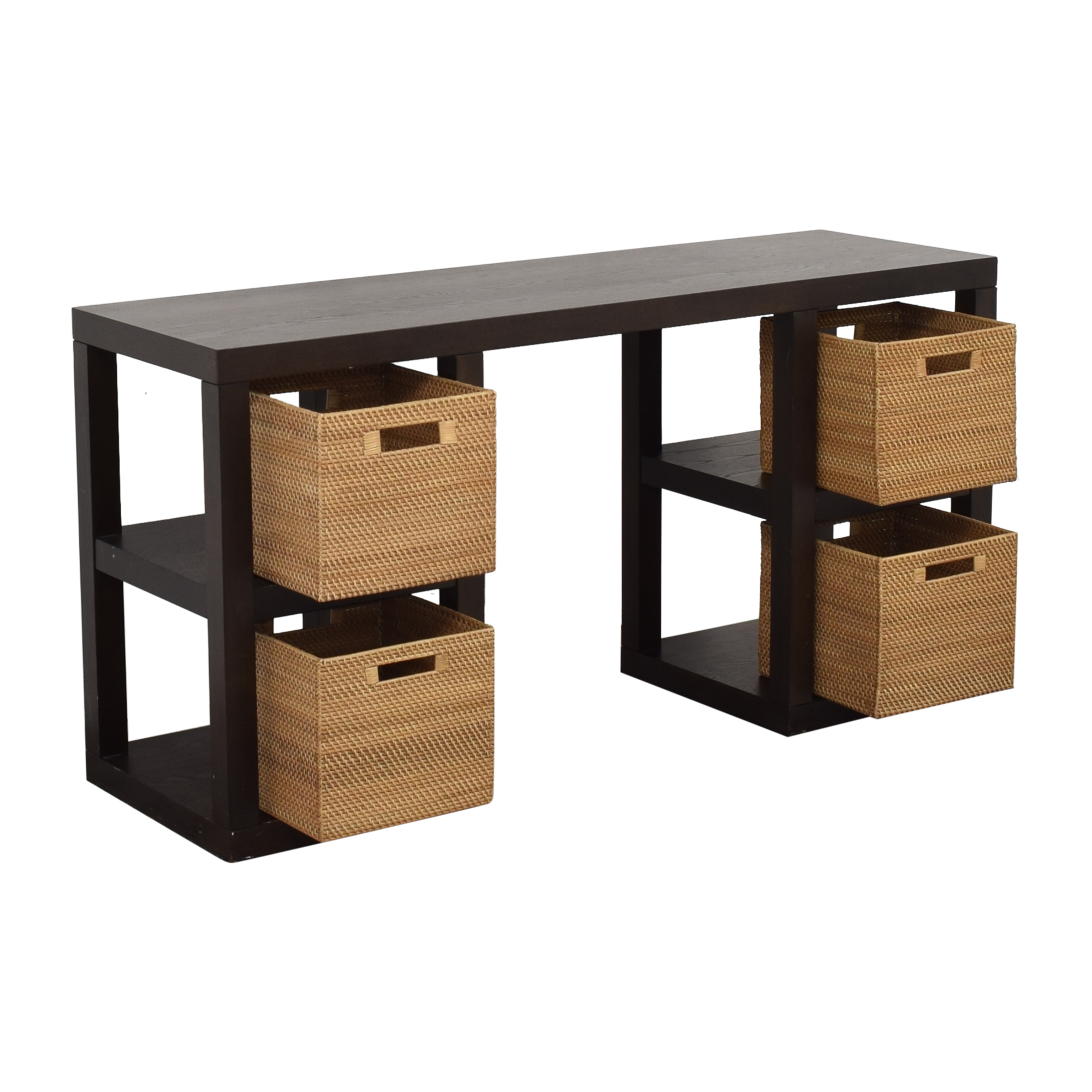 West Elm West Elm 2 x 2 Console Desk black & brown
