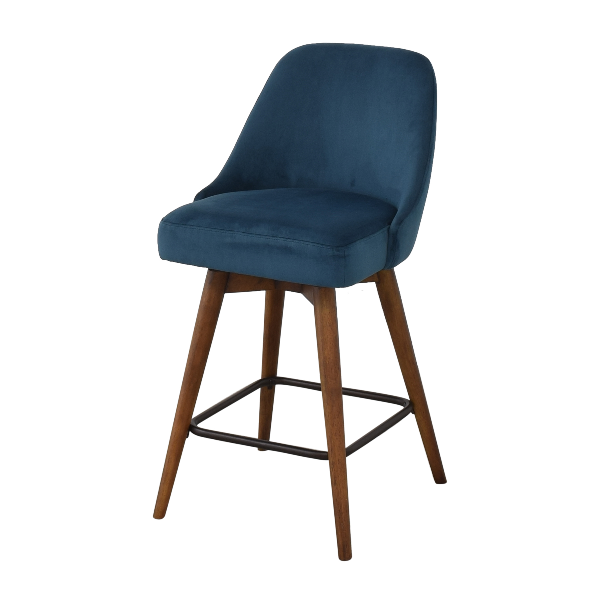 West Elm West Elm Mid-Century Upholstered Swivel Counter Stool used