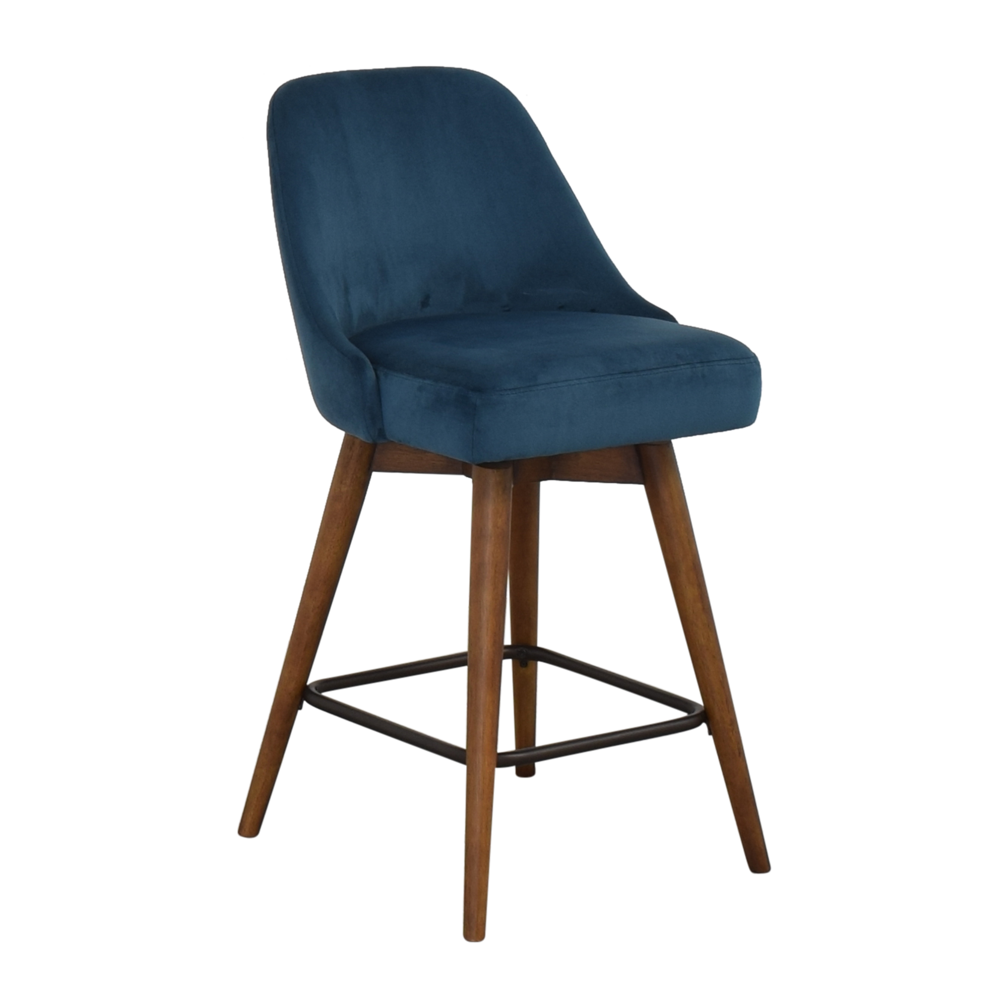 West Elm West Elm Mid-Century Upholstered Swivel Counter Stool Chairs