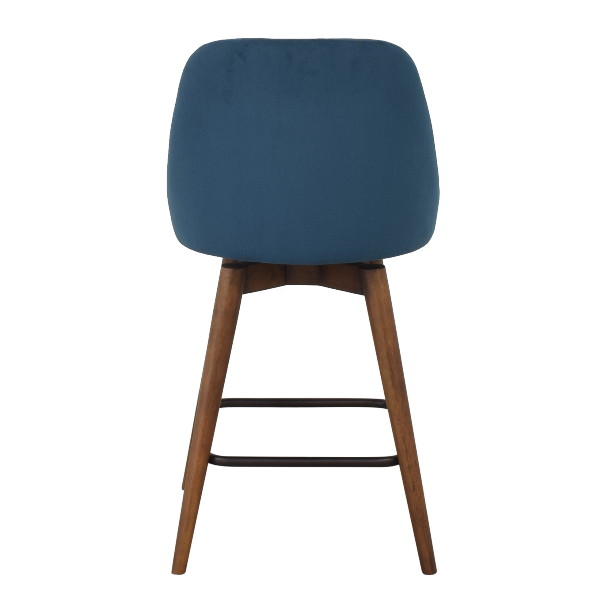 buy West Elm Mid-Century Upholstered Swivel Counter Stool West Elm Chairs