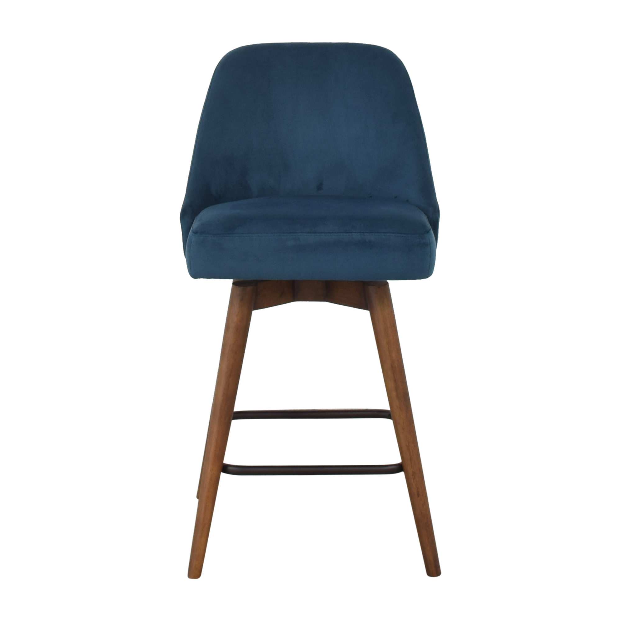 West Elm West Elm Mid-Century Upholstered Swivel Counter Stool ct