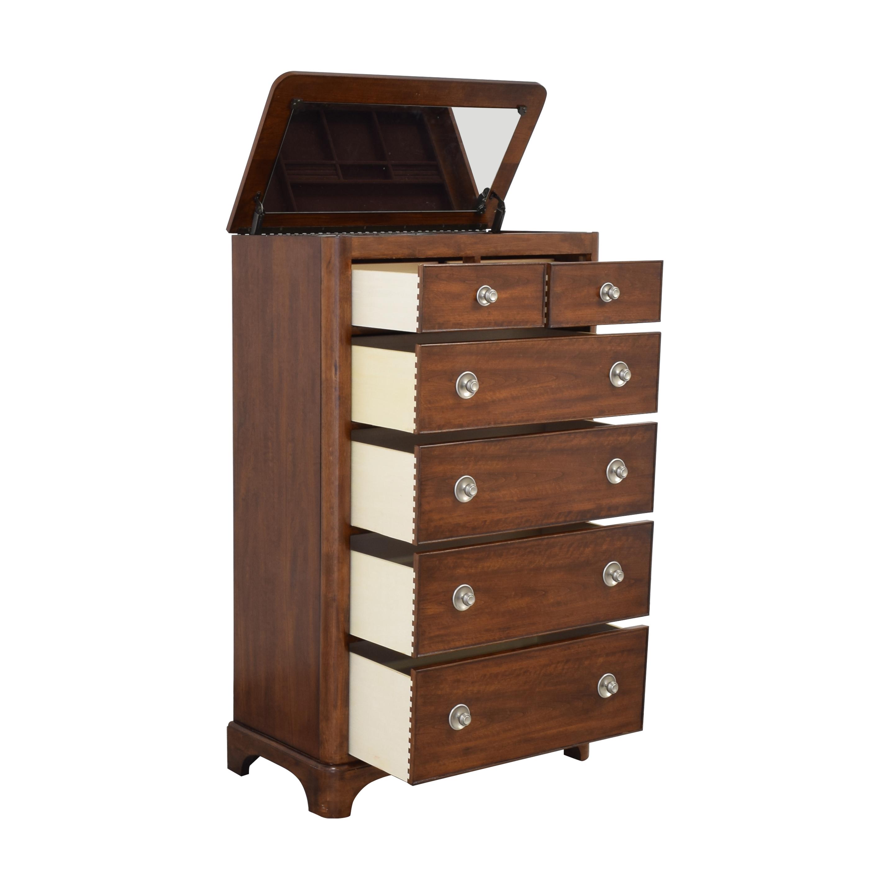 Bassett Furniture Bassett Six Drawer Chest with Hidden Vanity for sale