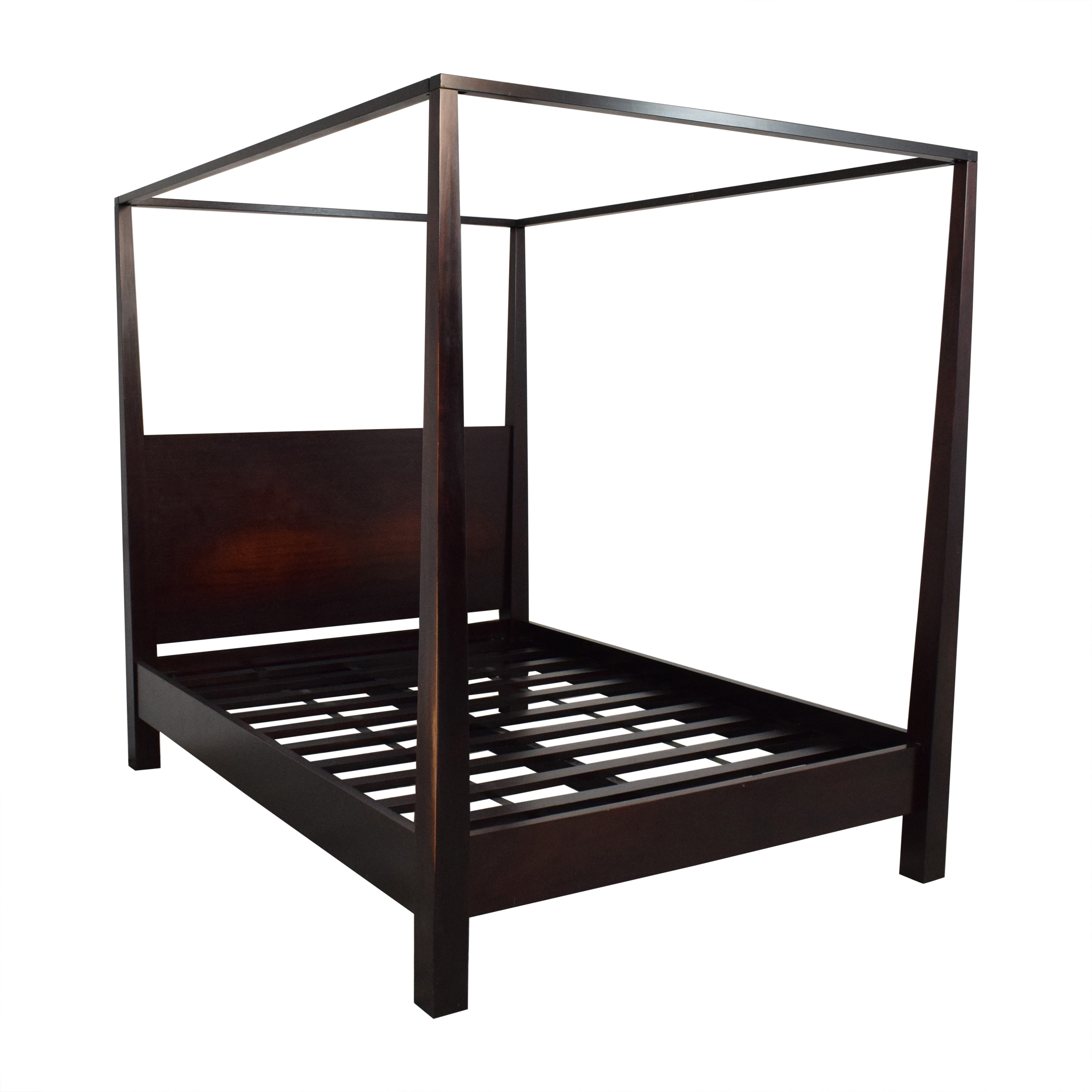 Crate & Barrel Crate & Barrel Brown Farmhouse Style Canopy Queen Bed dimensions