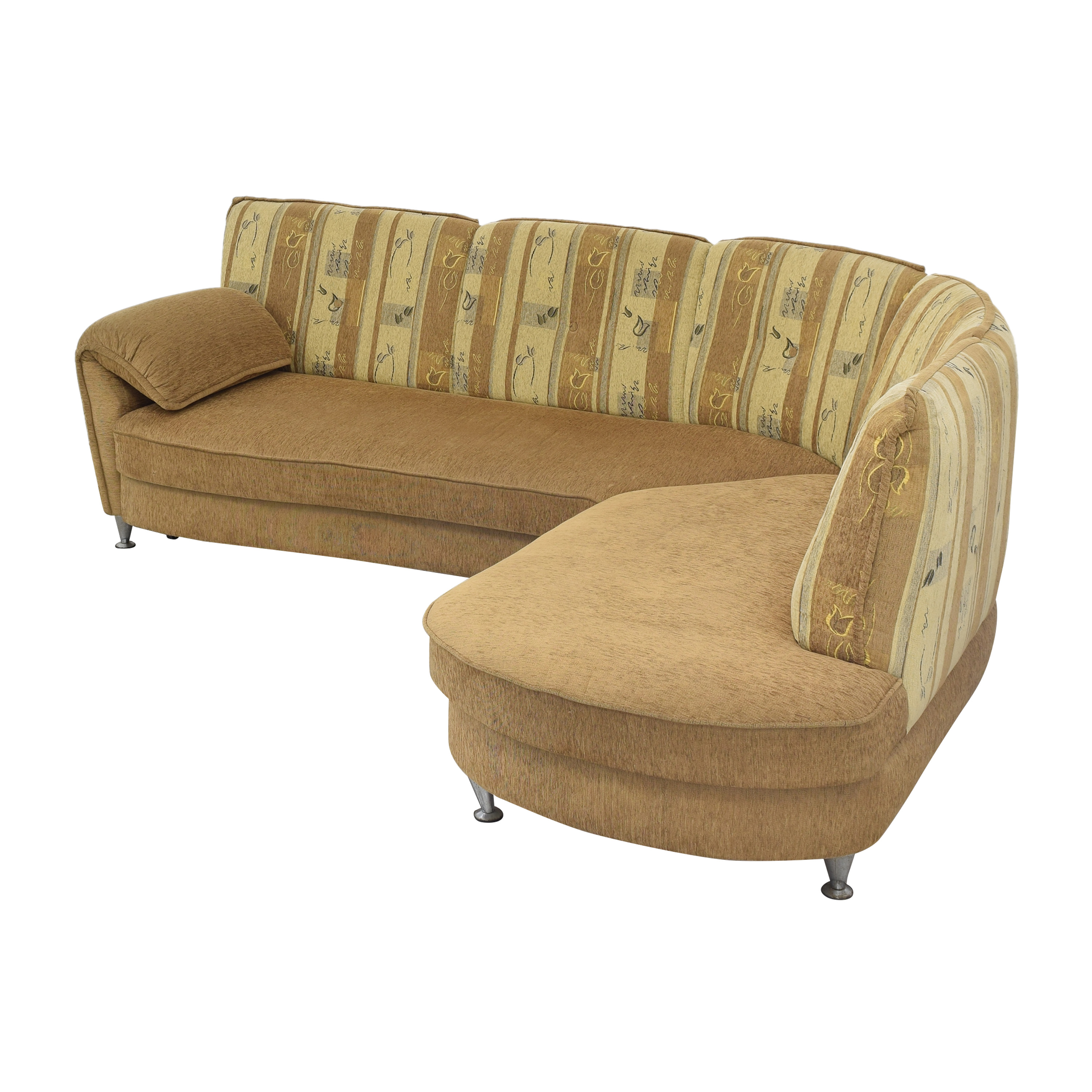 Curved Sectional Sofa with Foldout Bed sale