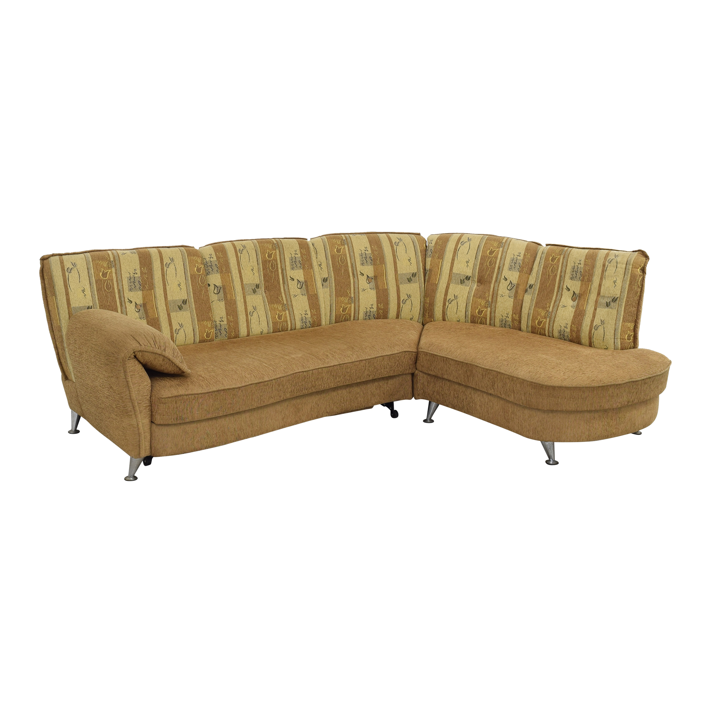 shop  Curved Sectional Sofa with Foldout Bed online
