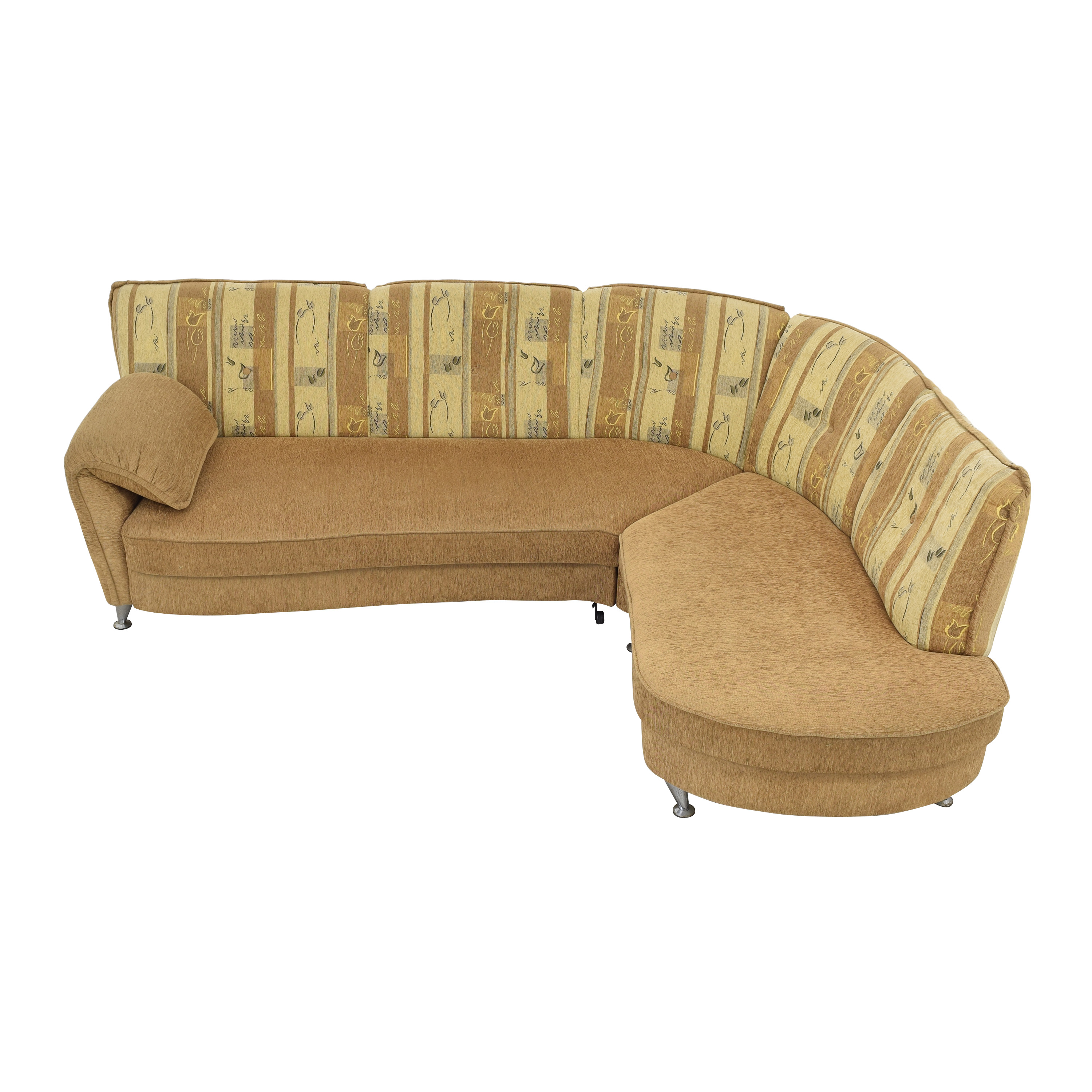 Curved Sectional Sofa with Foldout Bed nj