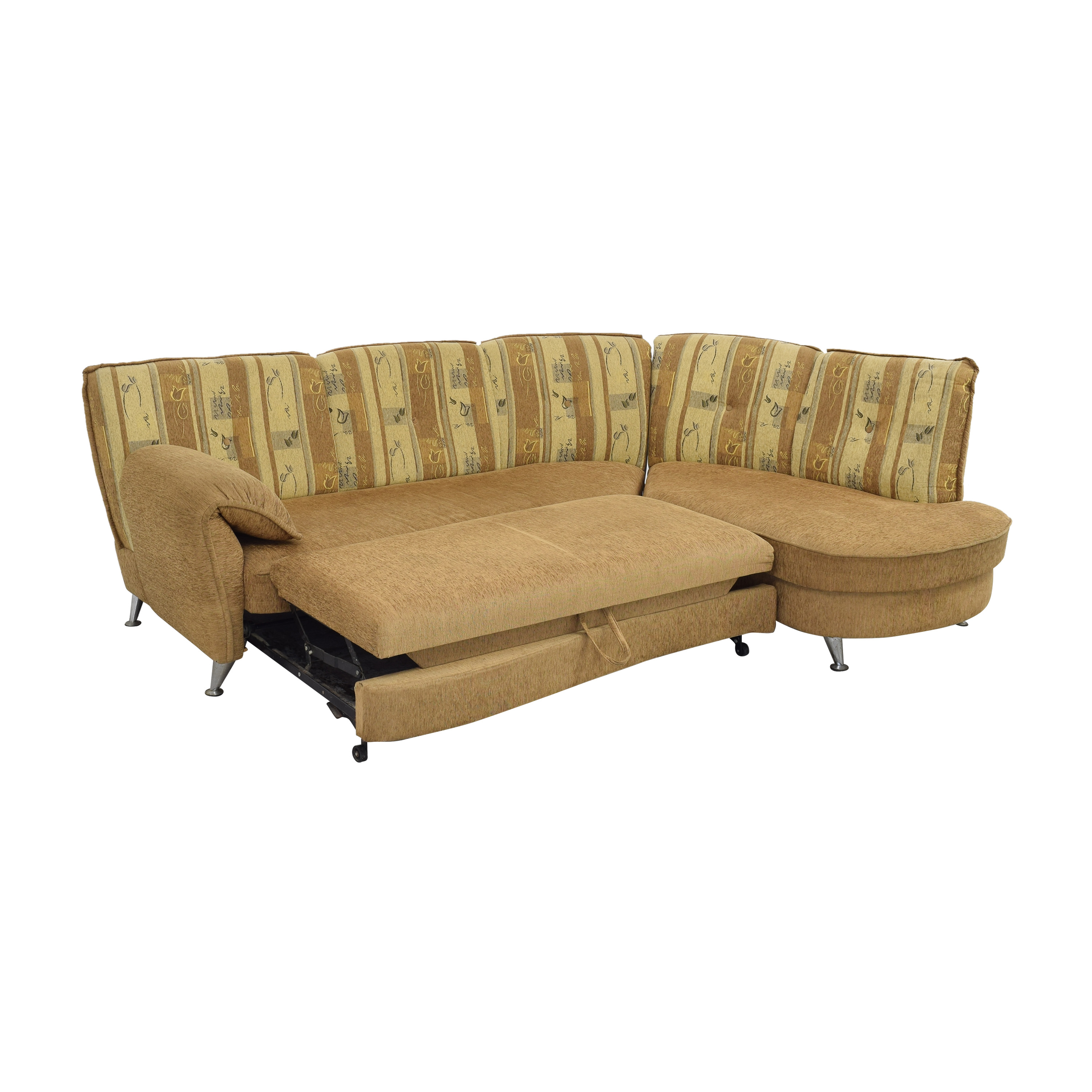 Curved Sectional Sofa with Foldout Bed ct